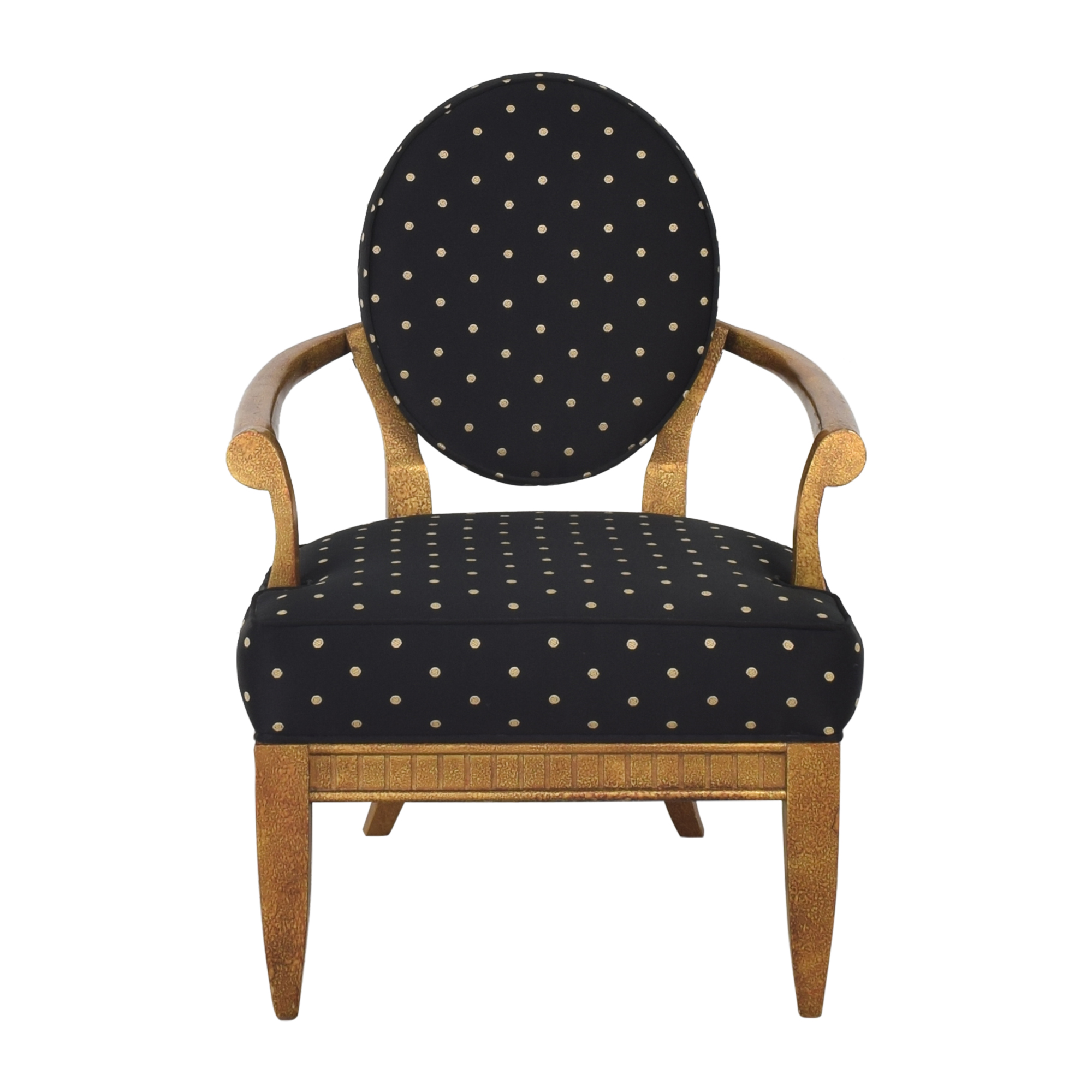 Oval Back Accent Chair