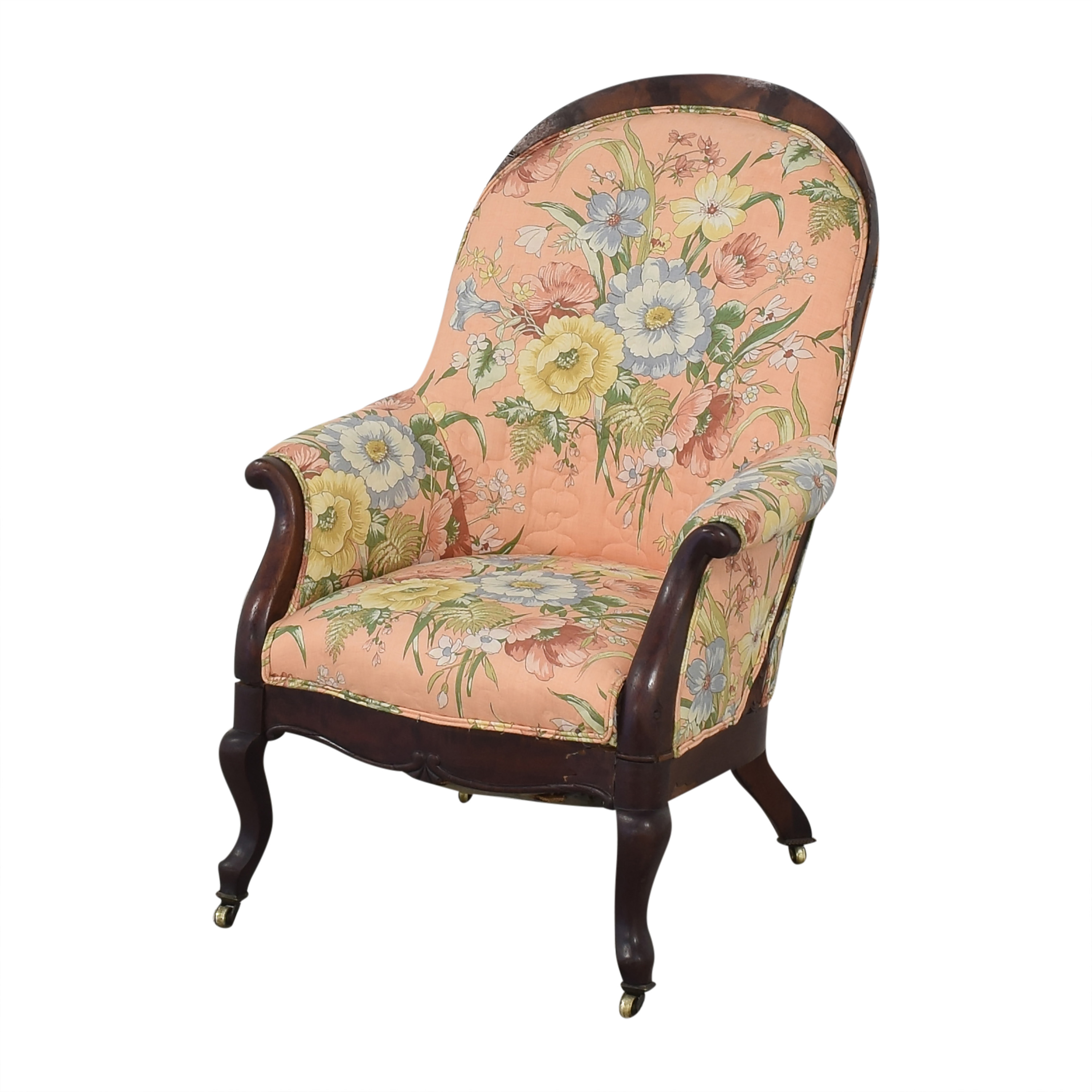 shop Vintage Style Upholstered Accent Chair  Chairs