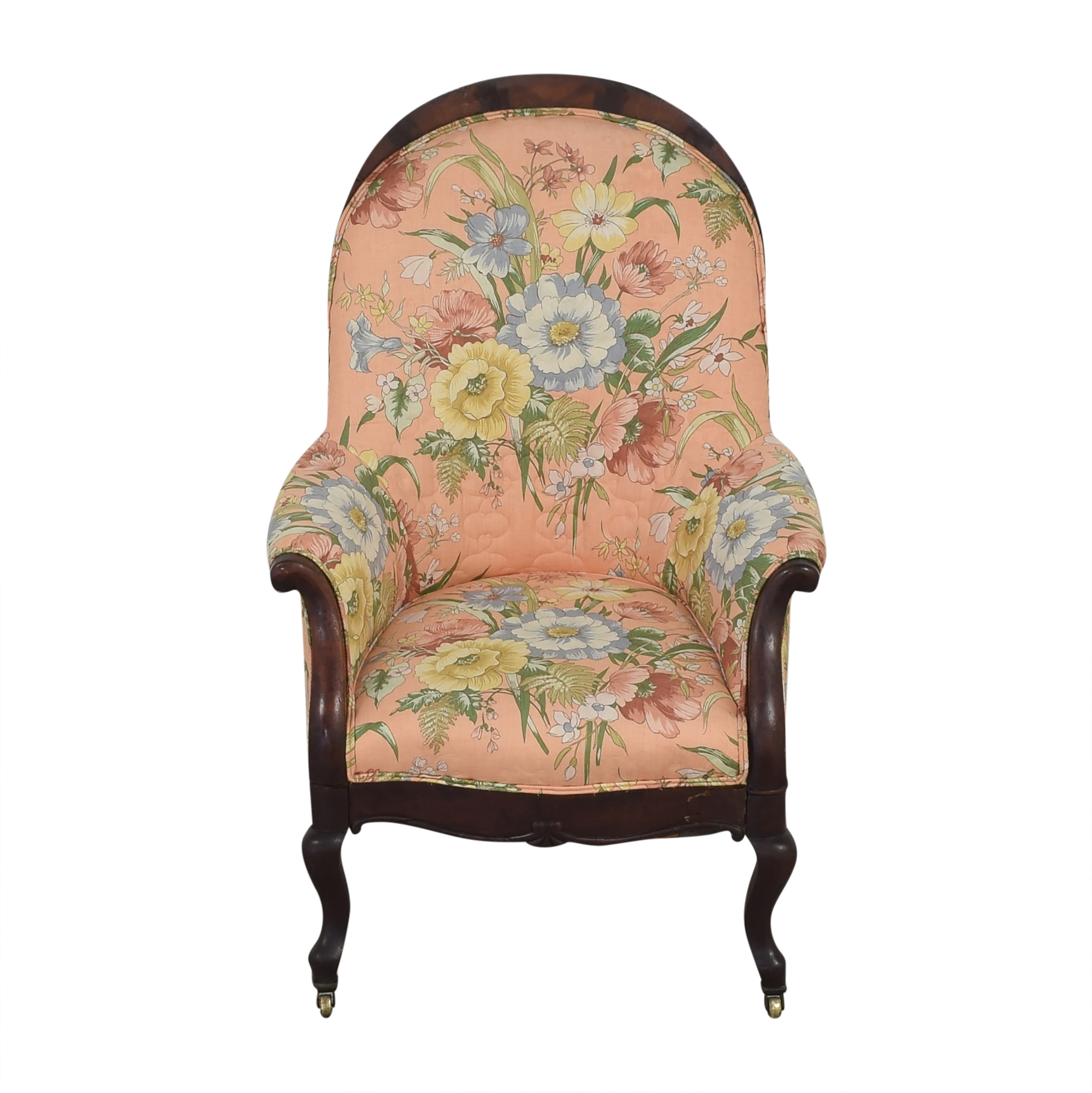 Vintage Style Upholstered Accent Chair ma