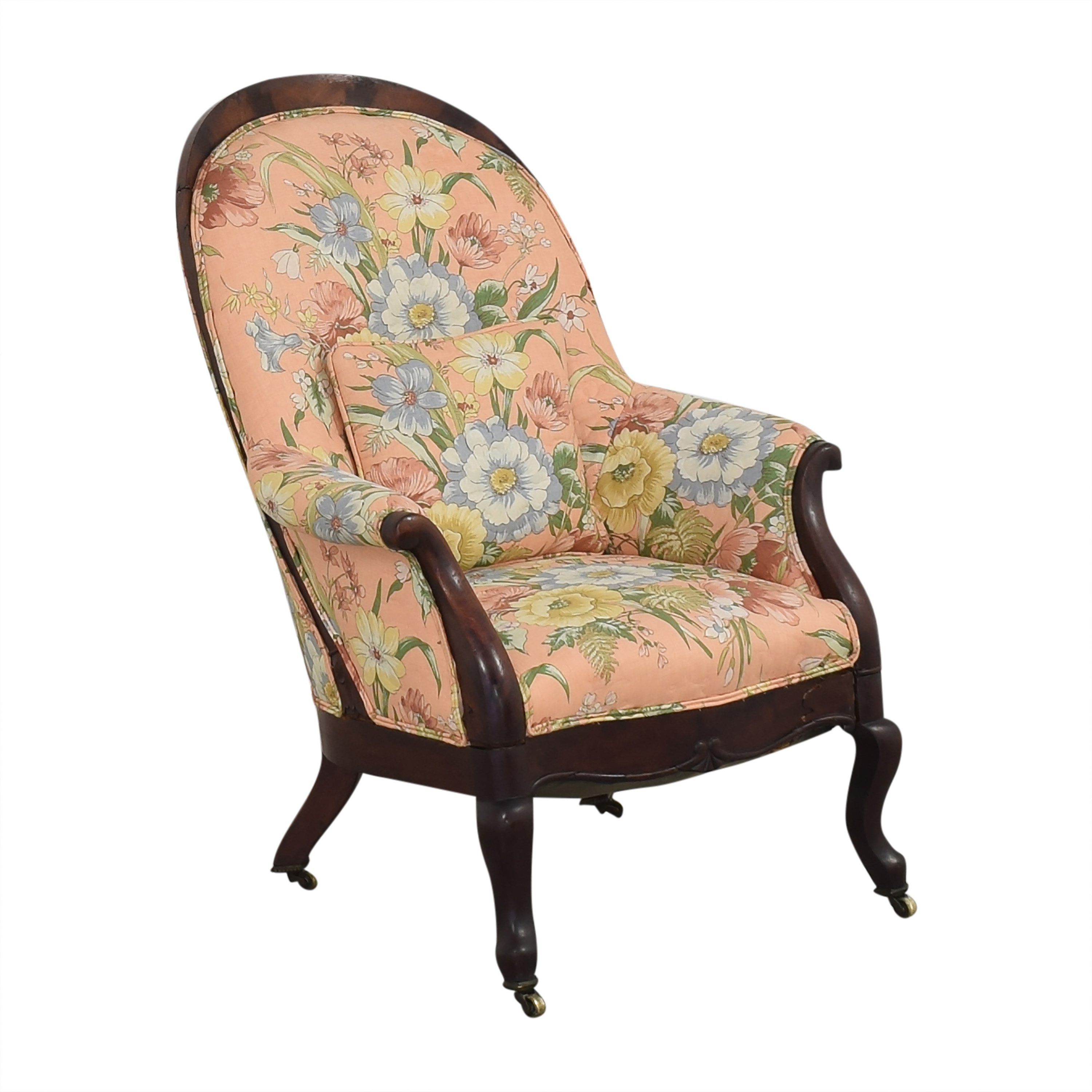 Vintage Style Upholstered Accent Chair sale