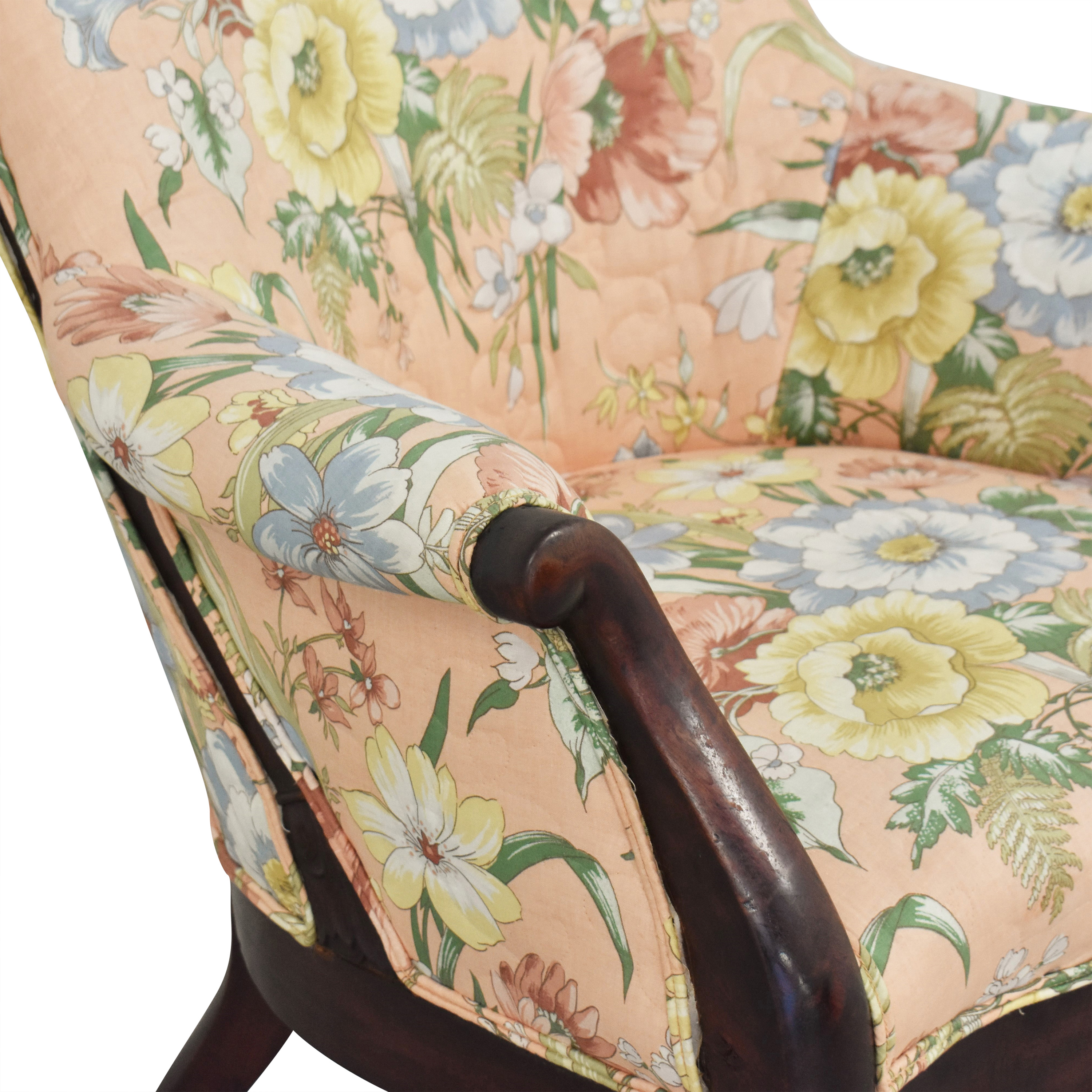 buy Vintage Style Upholstered Accent Chair  Accent Chairs
