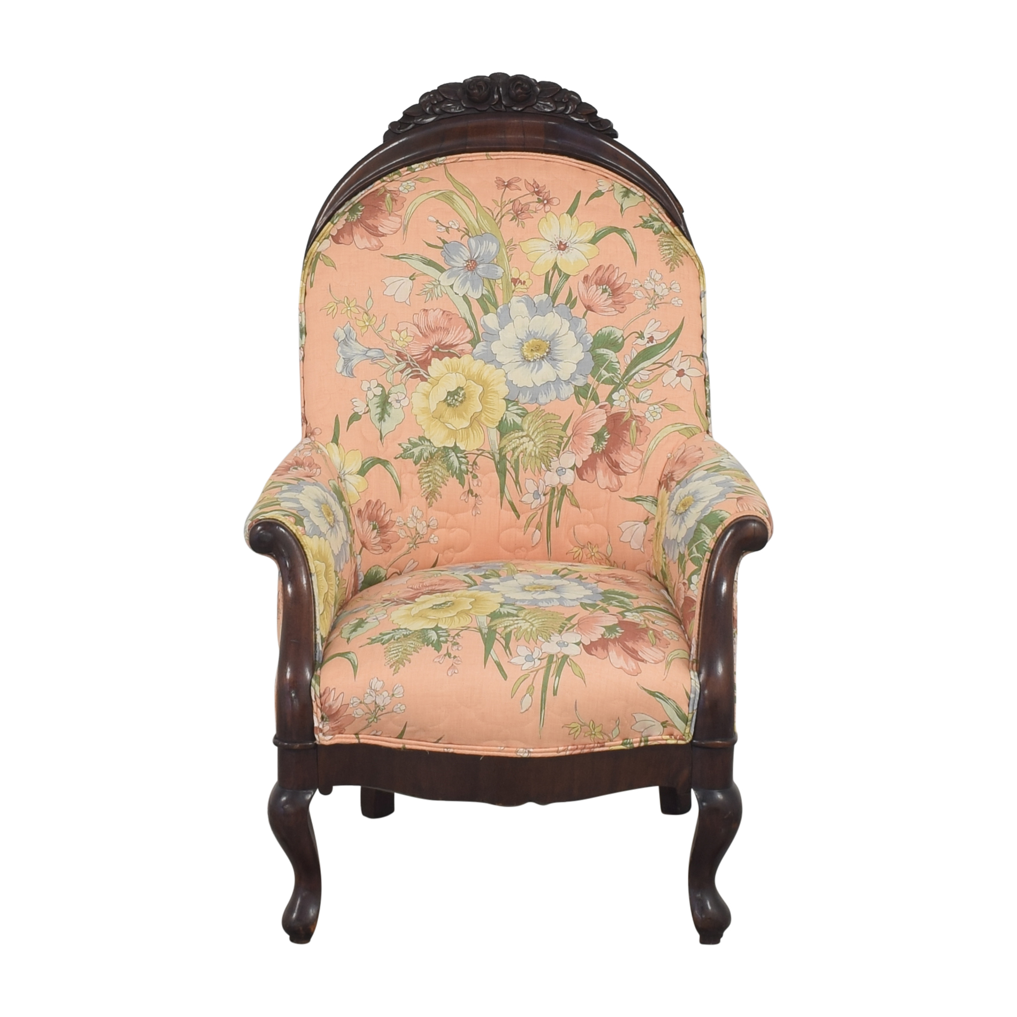 Vintage Style Upholstered Accent Chair on sale