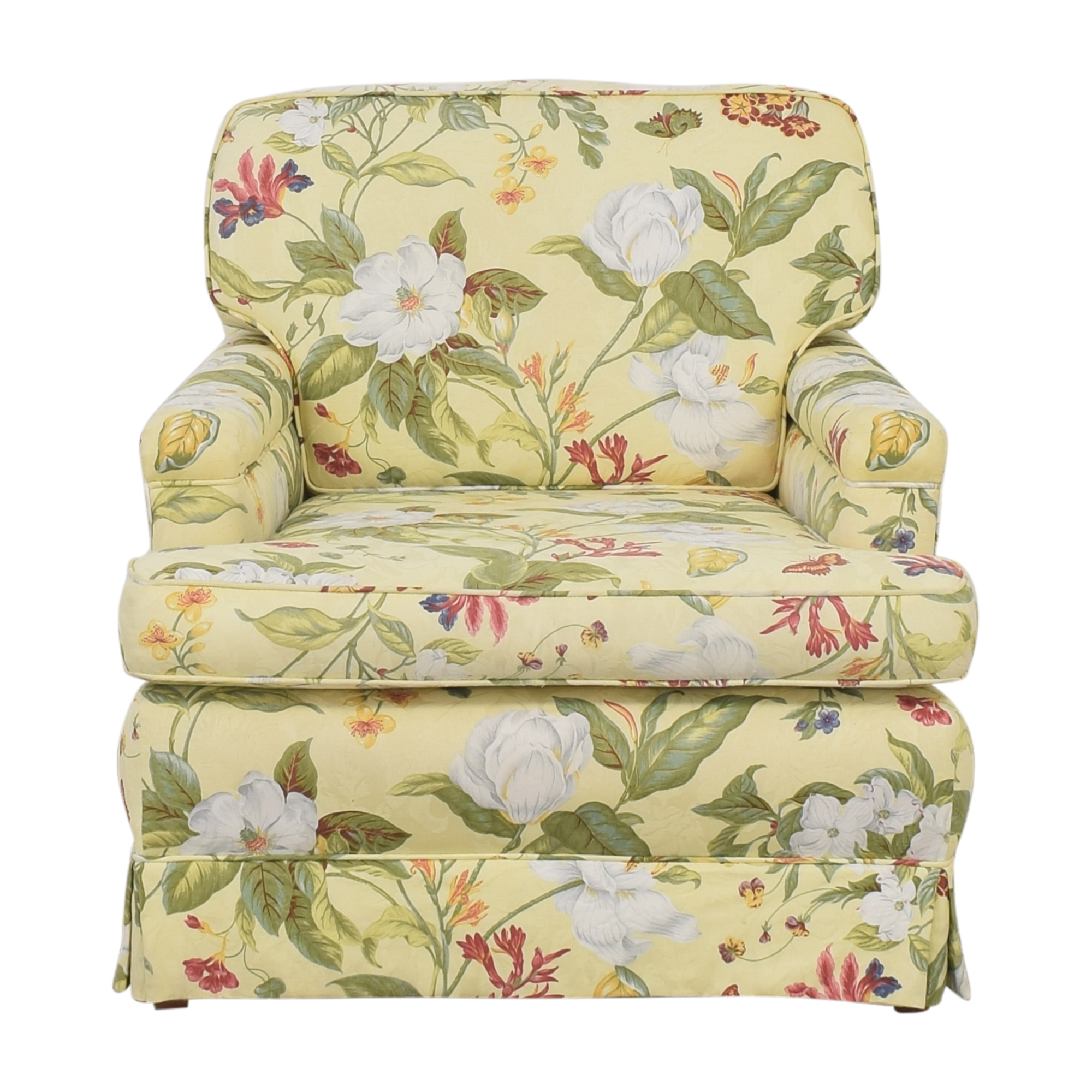 Floral Pattern Arm Chair dimensions