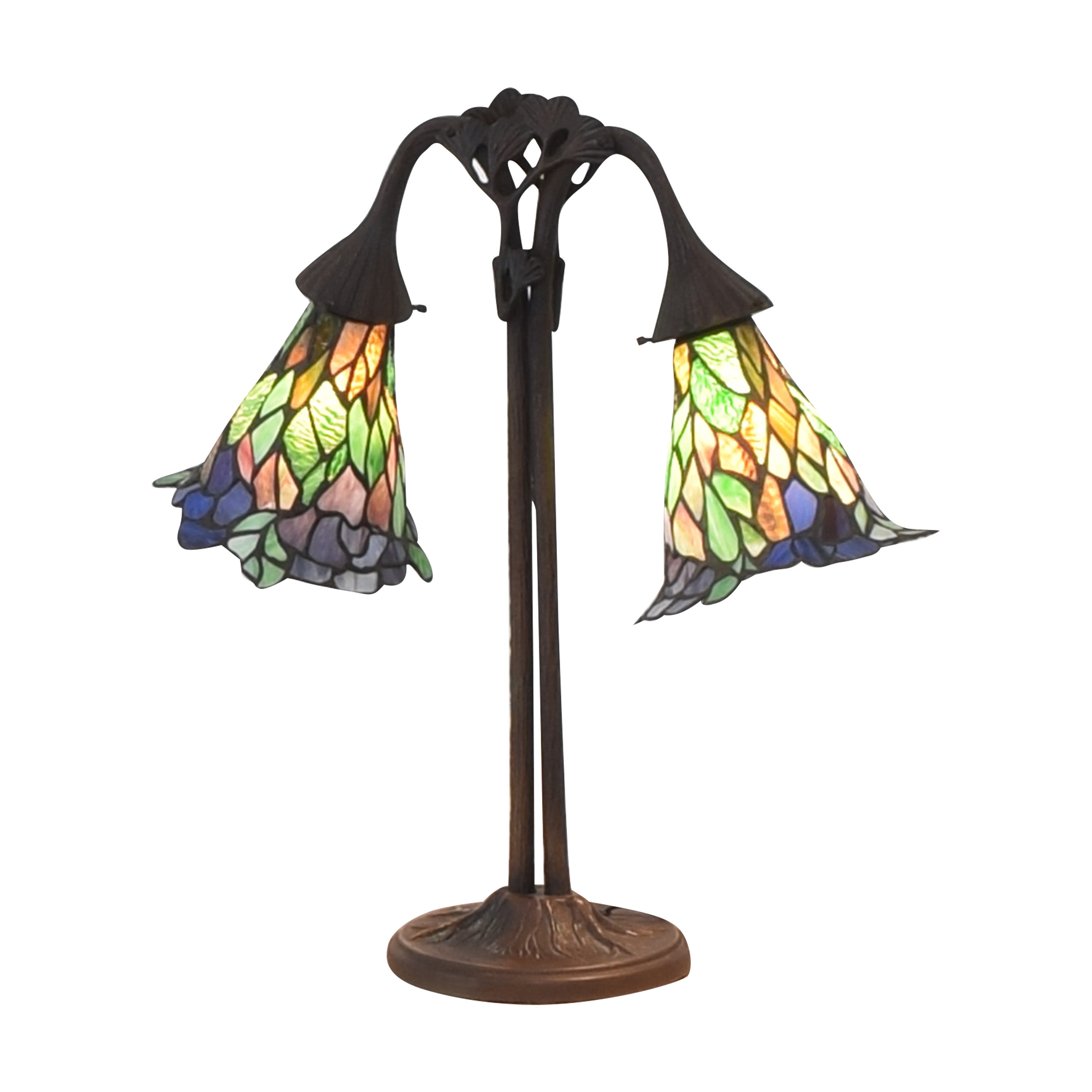 Double Table Lamp used