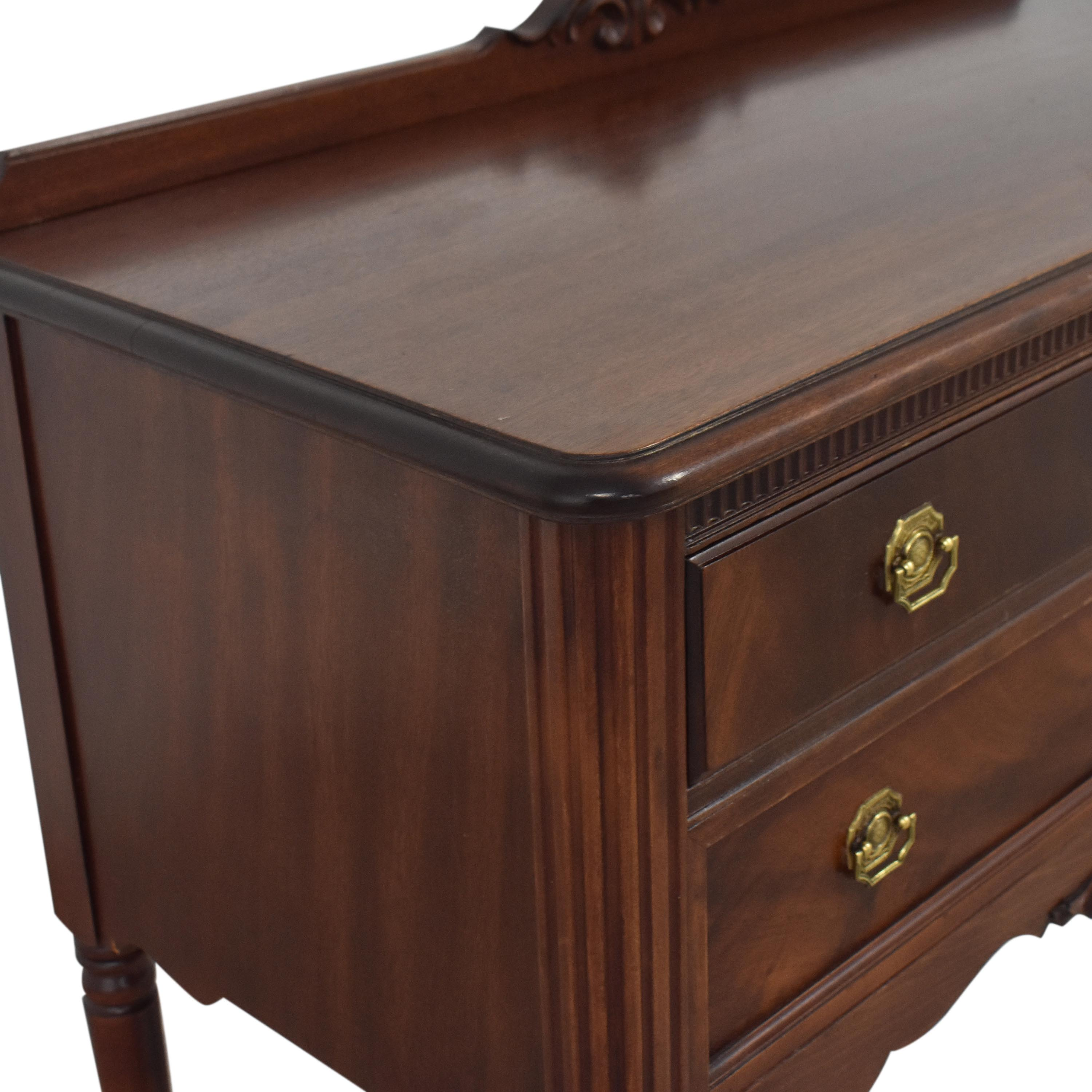Vintage Style Two Drawer Accent Table