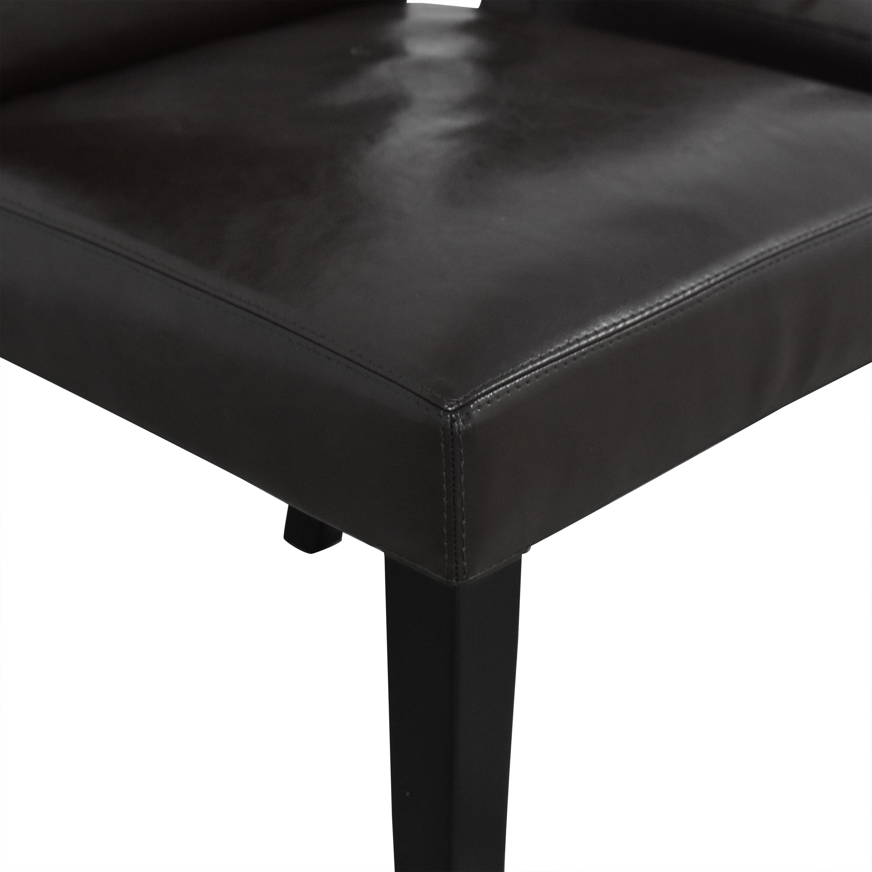 Crate & Barrel Crate & Barrel Pullman Side Chairs dark brown