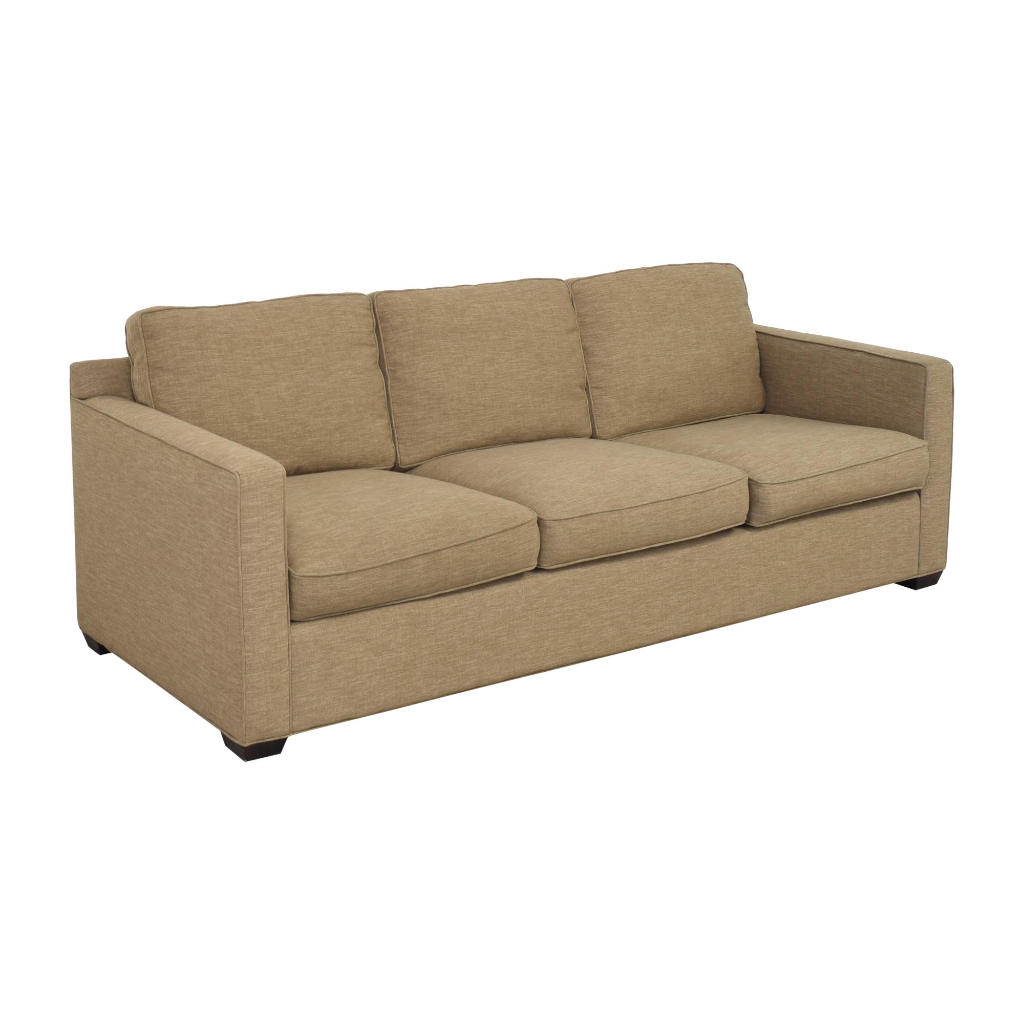 shop Crate & Barrel Davis 3 Seat Sofa Crate & Barrel Classic Sofas