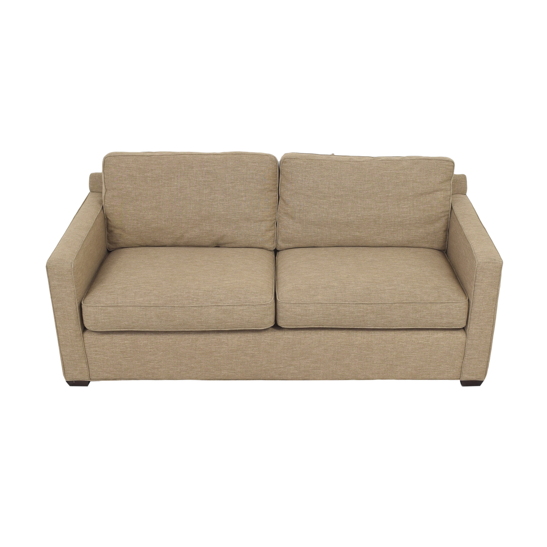 Crate & Barrel Crate & Barrel Davis Two Cushion Sofa Classic Sofas