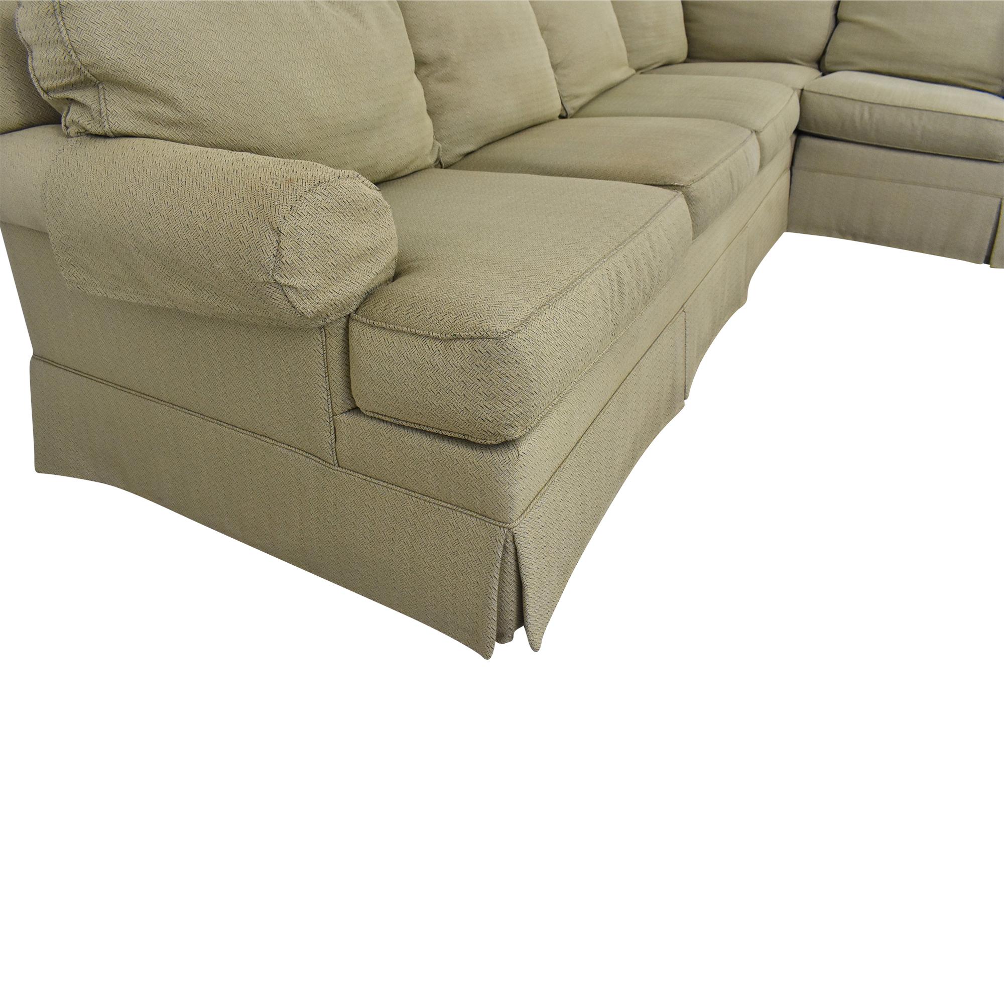 buy Ethan Allen Ethan Allan Skirted Sectional Sofa online