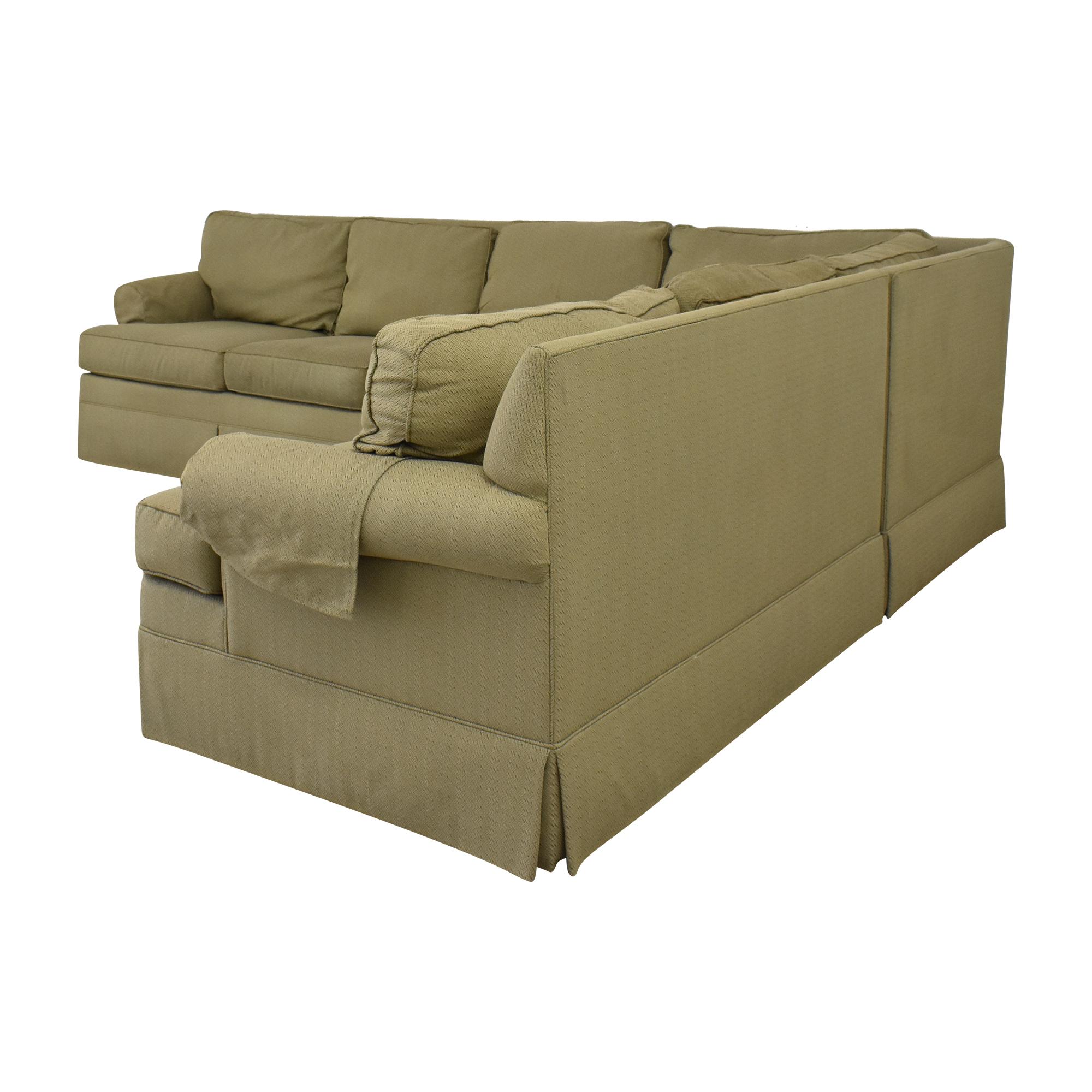 Ethan Allen Ethan Allan Skirted Sectional Sofa ct