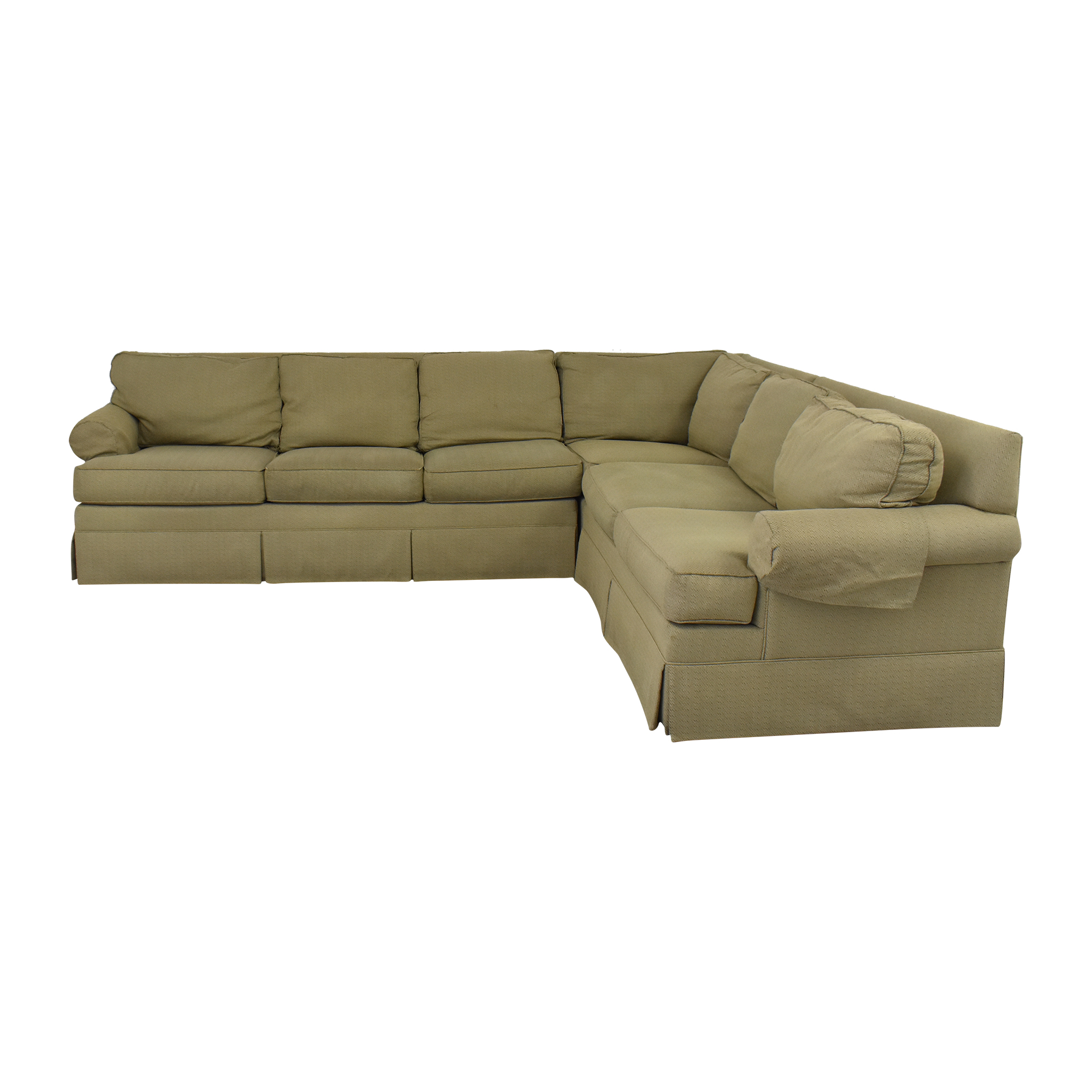 Ethan Allen Ethan Allan Skirted Sectional Sofa ma