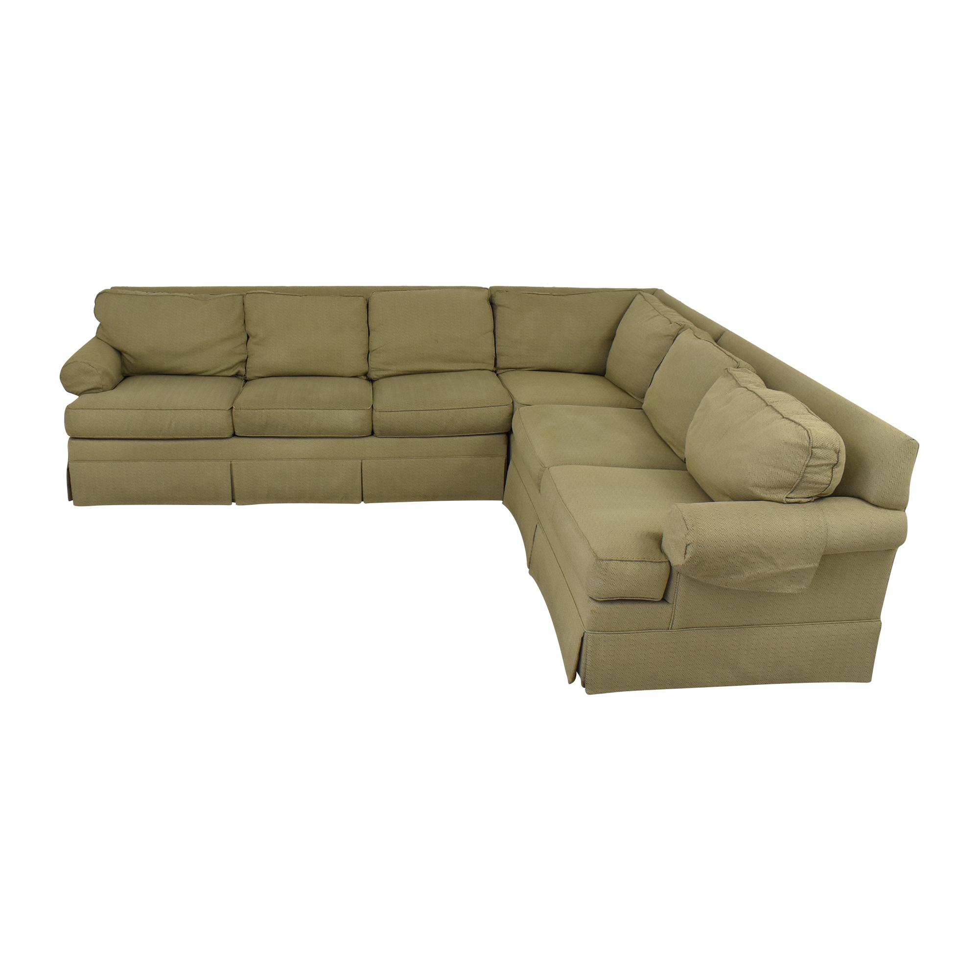 Ethan Allen Ethan Allan Skirted Sectional Sofa coupon