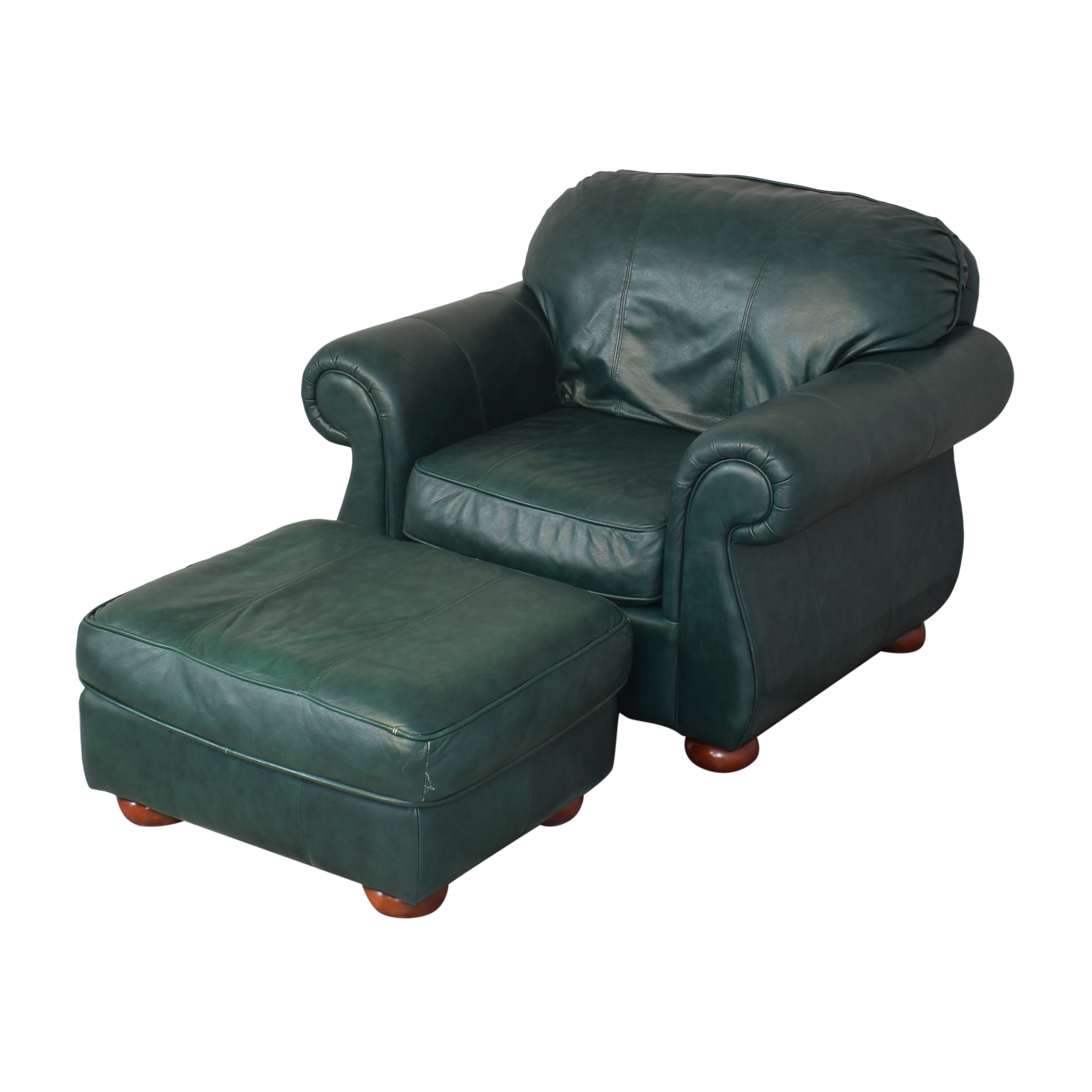 Drexel Drexel Studio Chair with Ottoman Accent Chairs