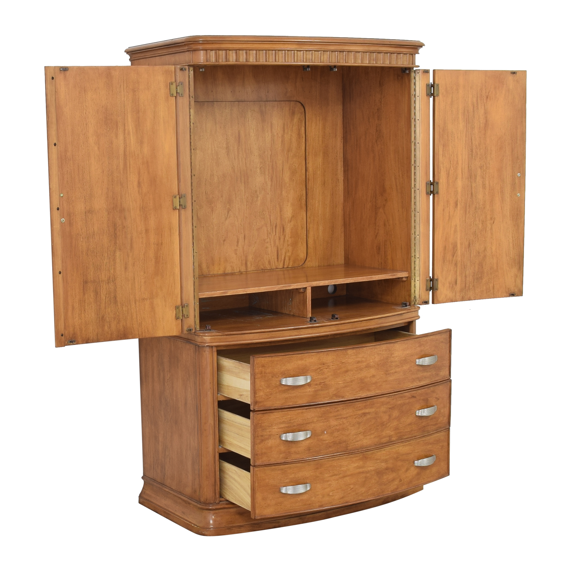 Two Door Media Armoire Storage
