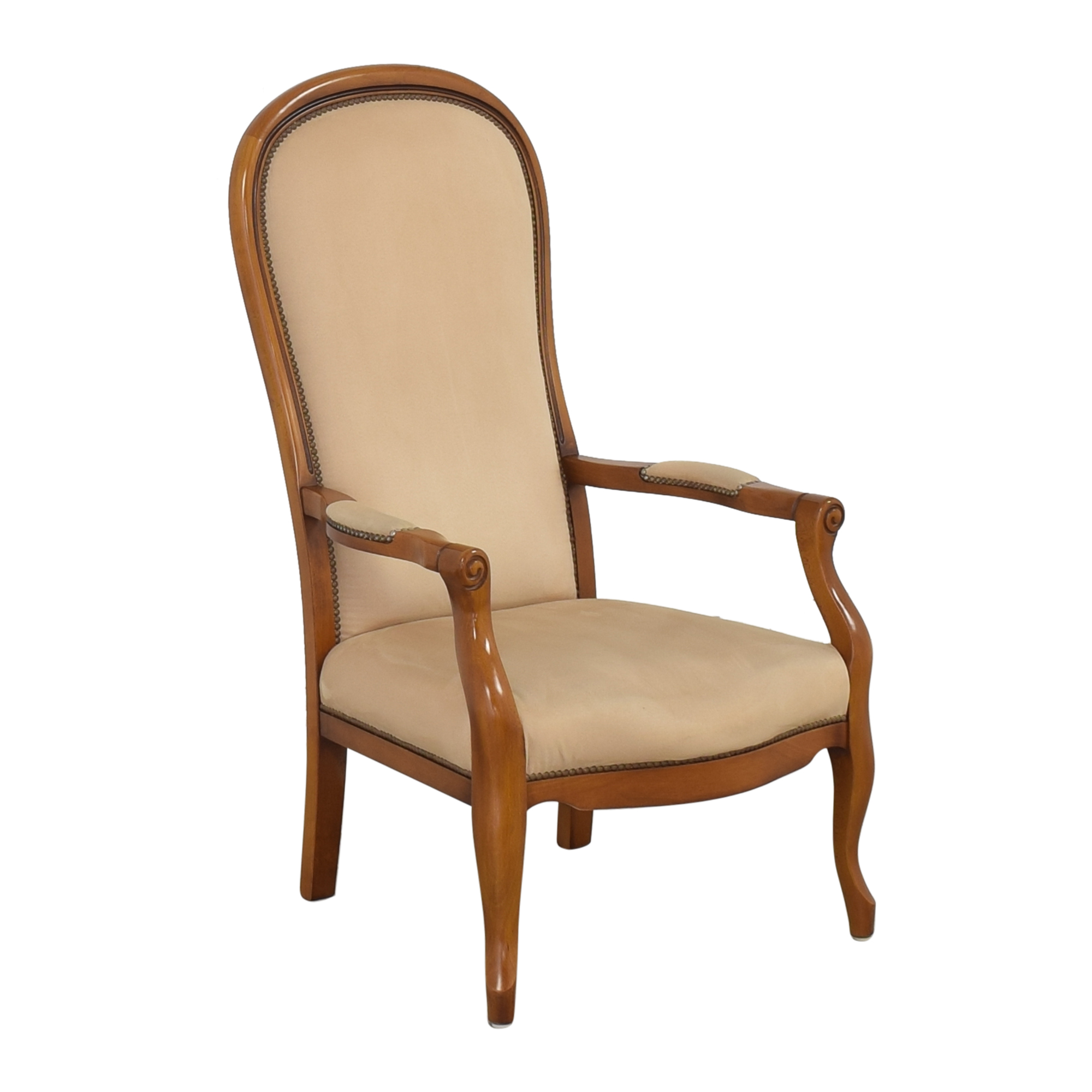 Upholstered Accent Arm Chair beige & brown