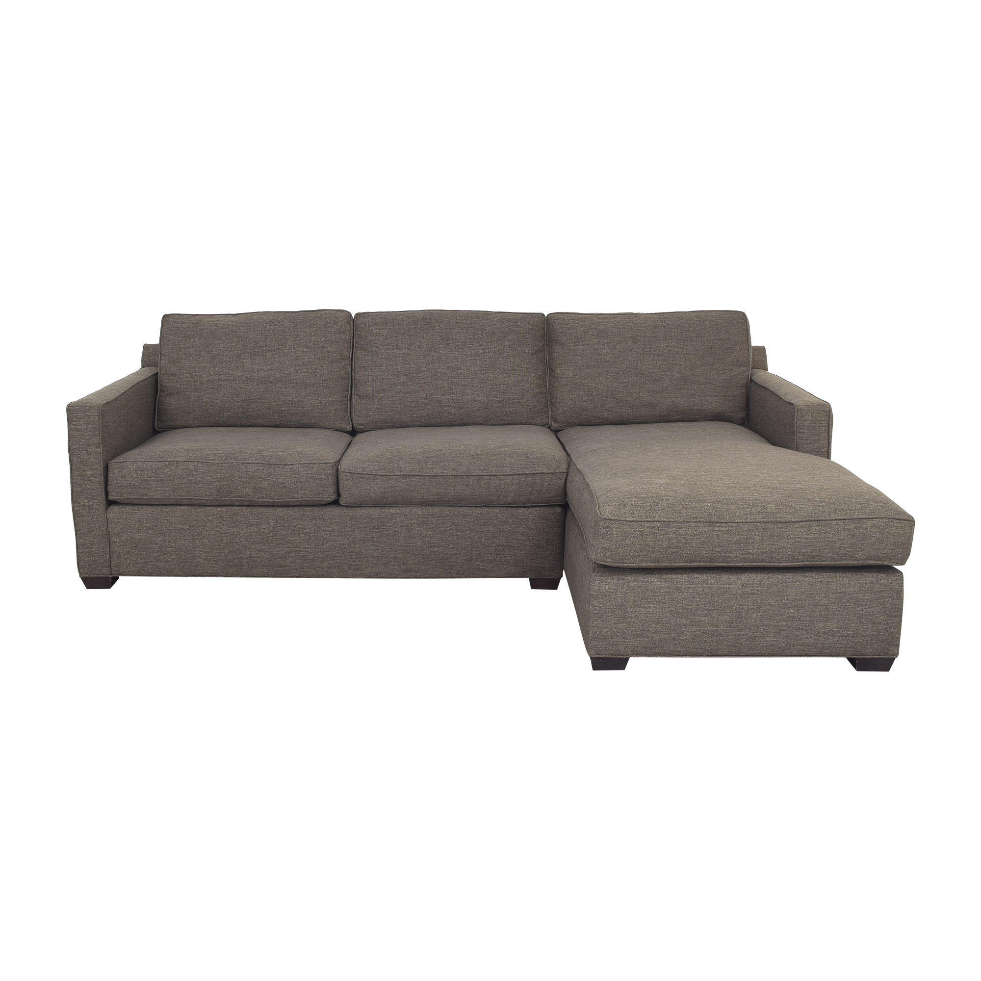 Crate & Barrel Sectional Sofa with Chaise / Sectionals