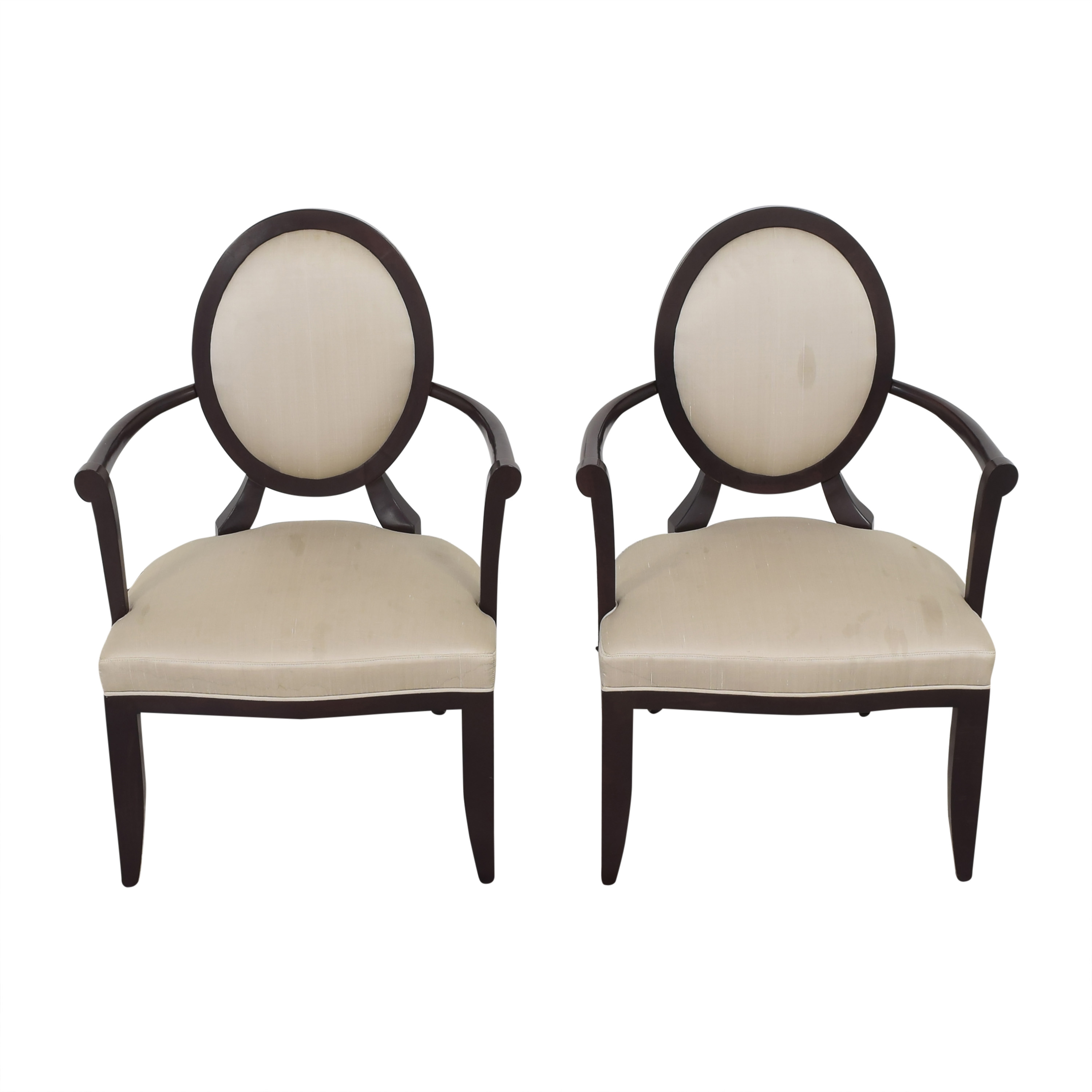 Baker Furniture Baker Furniture Oval X-Back Dining Arm Chairs dimensions
