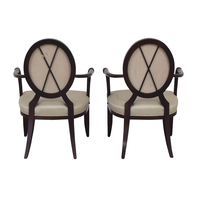 shop Baker Furniture Oval X-Back Dining Arm Chairs Baker Furniture Dining Chairs