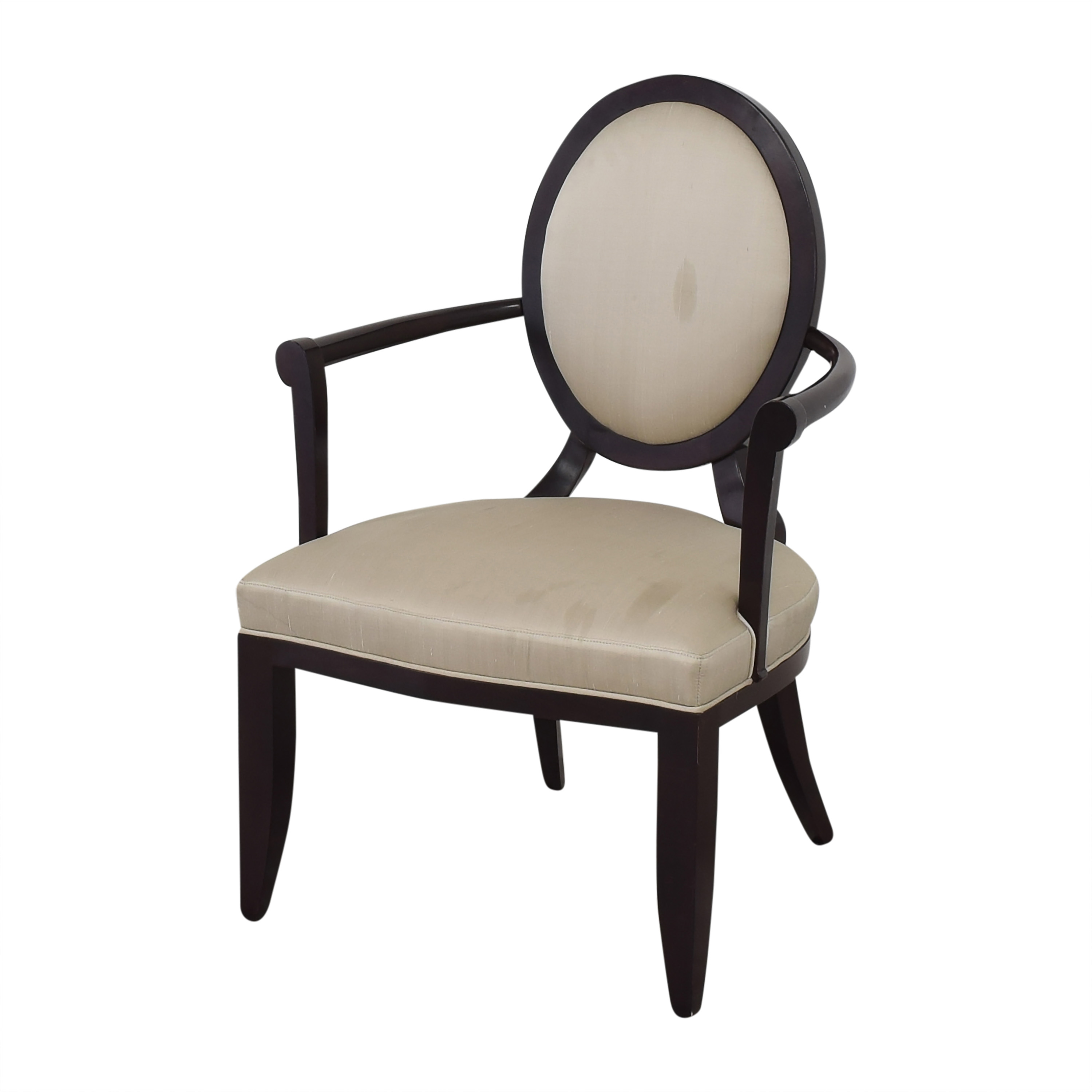 Baker Furniture Baker Furniture Oval X-Back Dining Arm Chairs ct