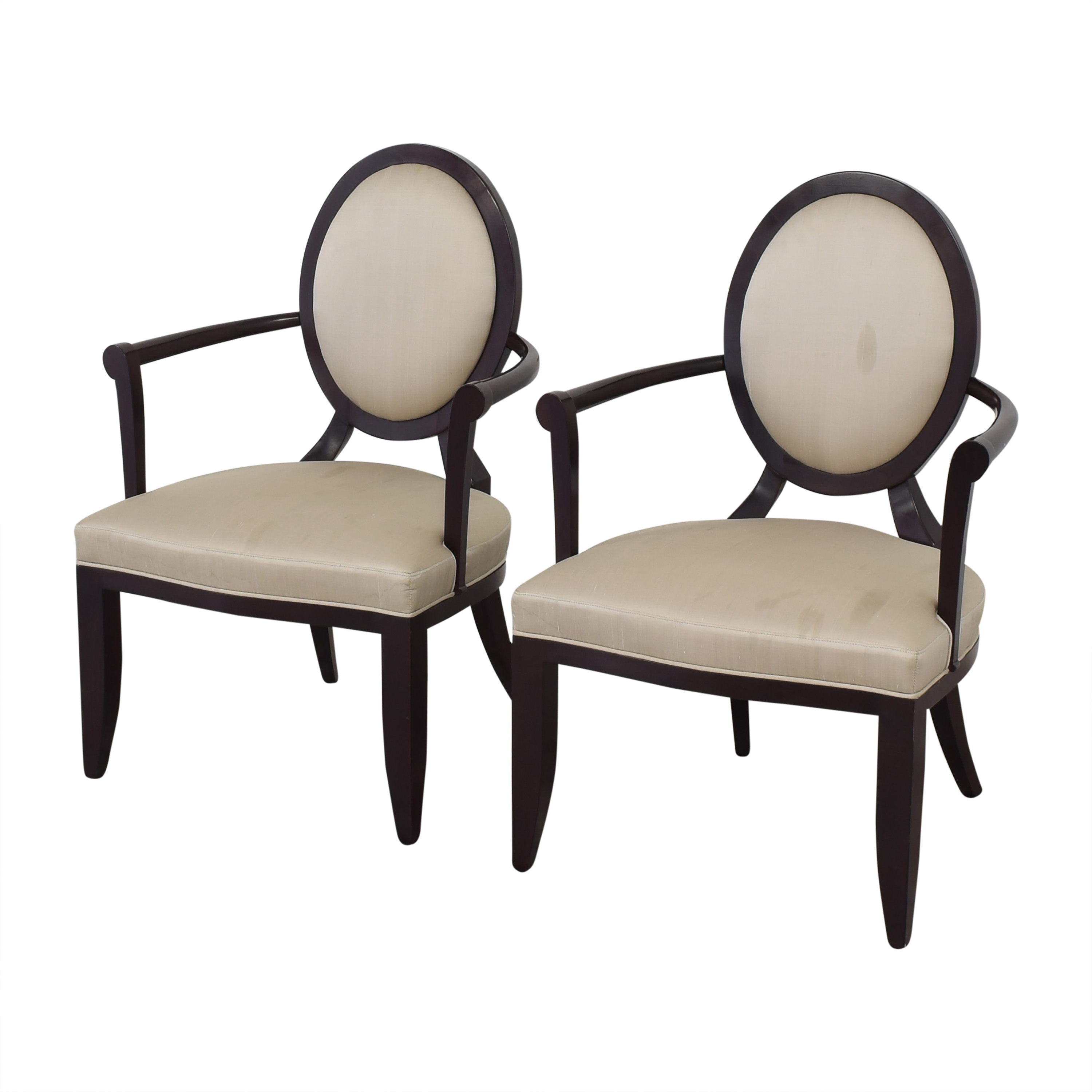 Baker Furniture Baker Furniture Oval X-Back Dining Arm Chairs used