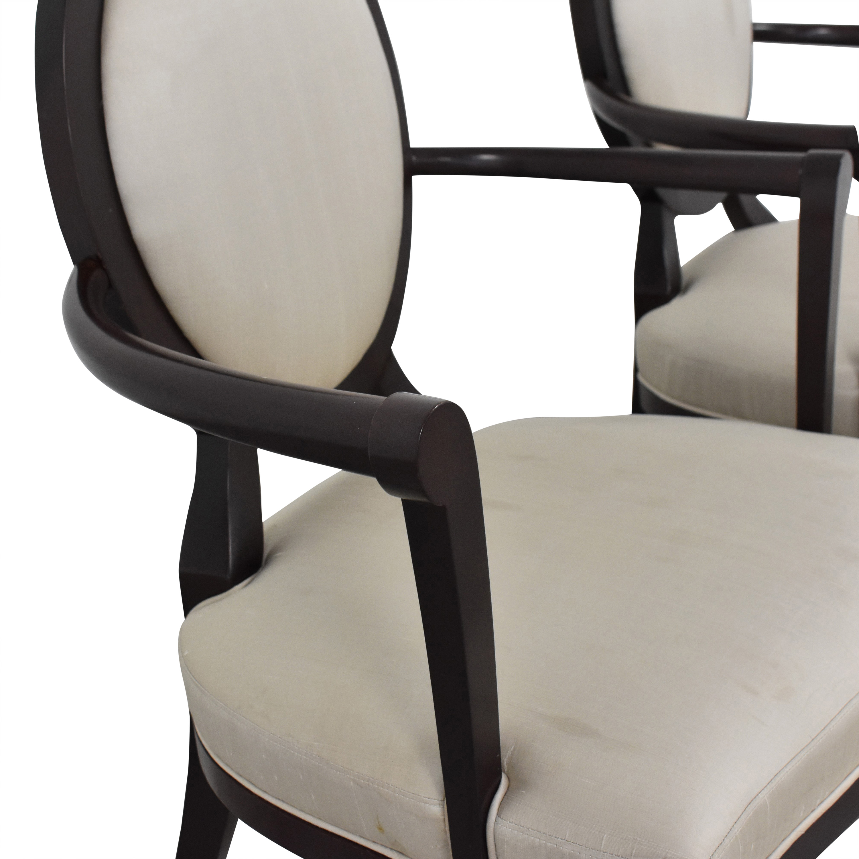Baker Furniture Baker Furniture Oval X-Back Dining Arm Chairs