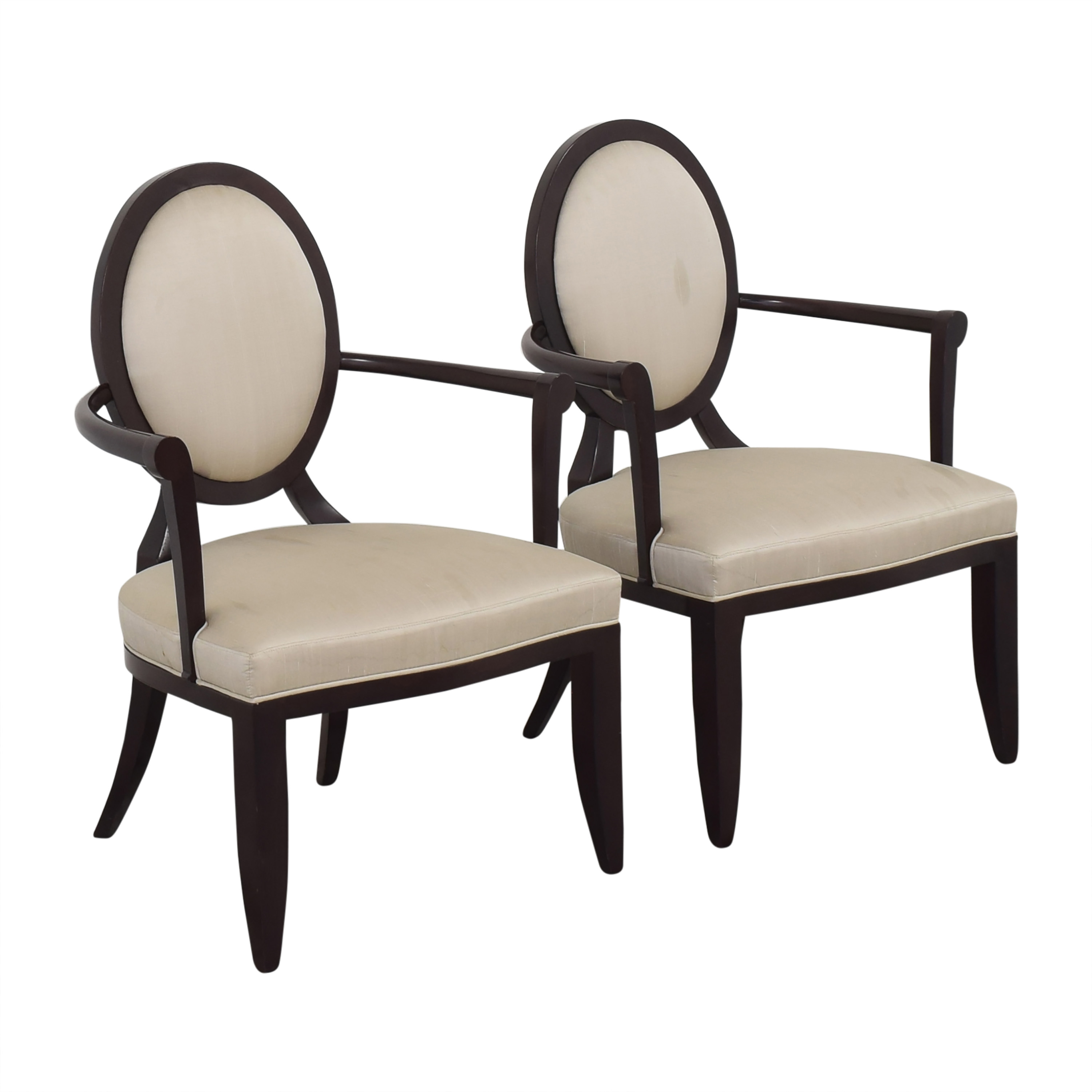 Baker Furniture Oval X-Back Dining Arm Chairs sale
