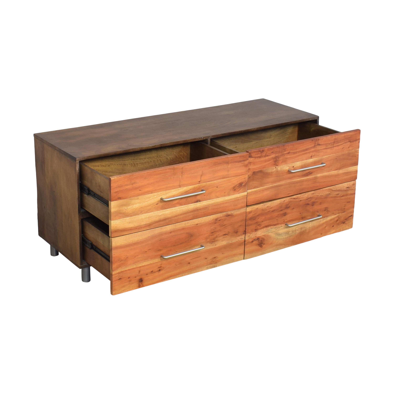CB2 CB2 Junction Low Four Drawer Dresser