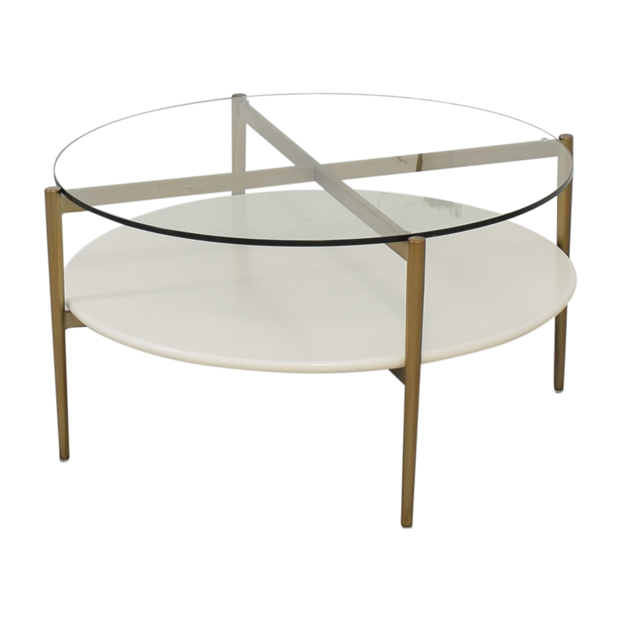 West Elm West Elm Coffee Table with Shelf and Transparent Surface nj