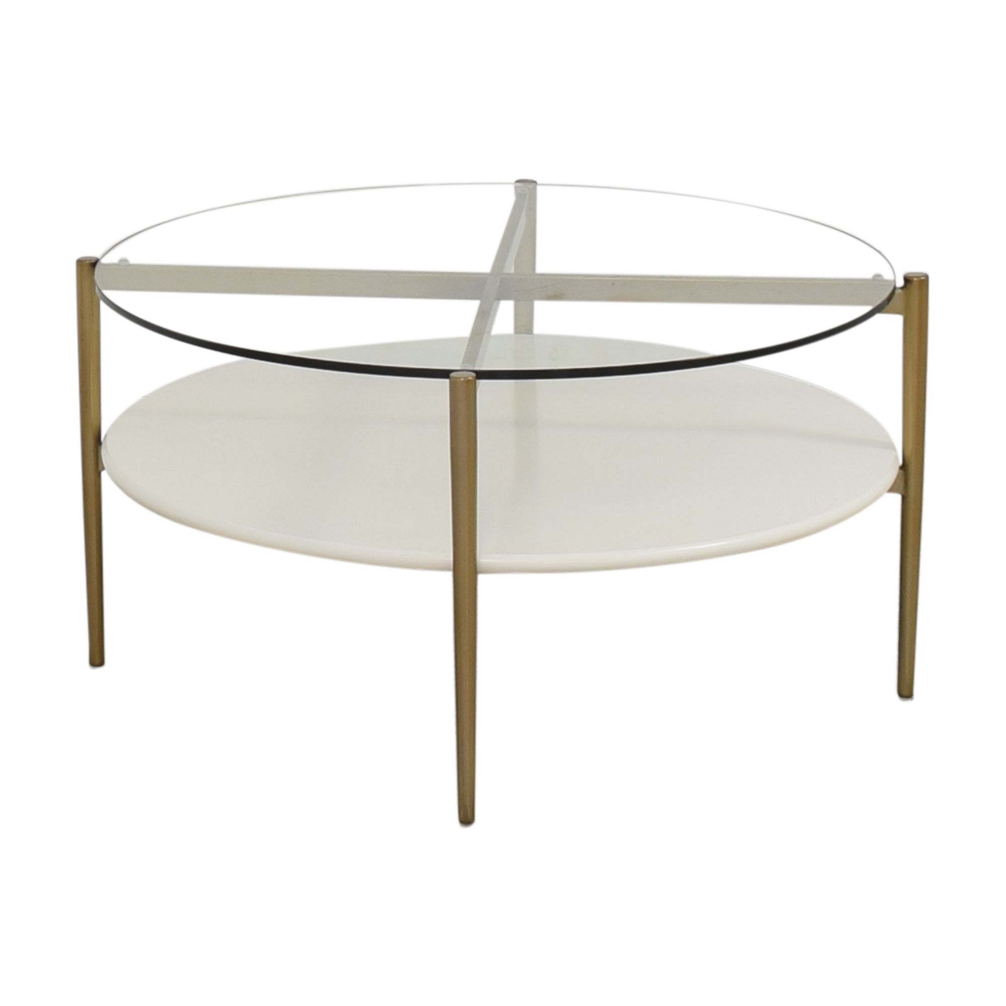 West Elm West Elm Coffee Table with Shelf and Transparent Surface ma