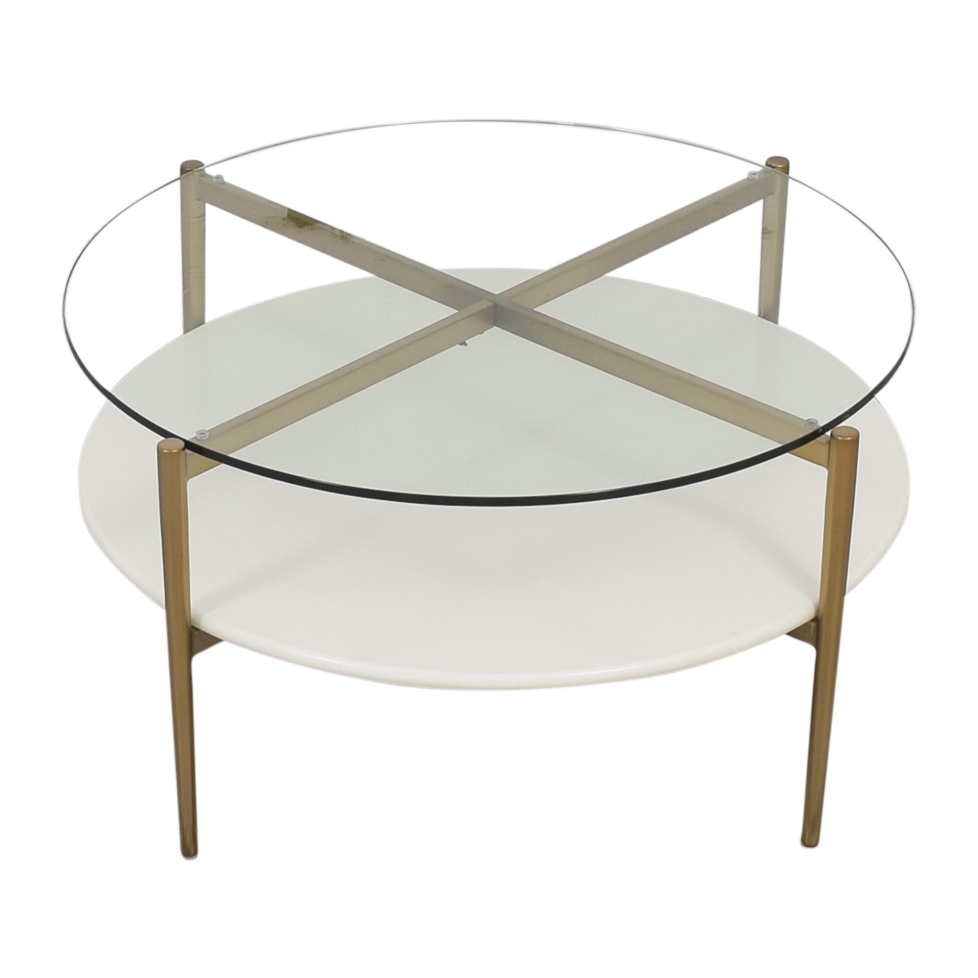 West Elm West Elm Coffee Table with Shelf and Transparent Surface