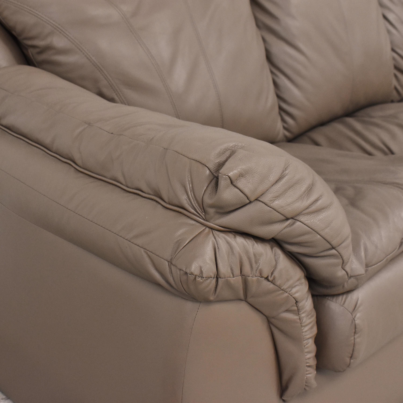 Plush Three Cushion Sofa ct