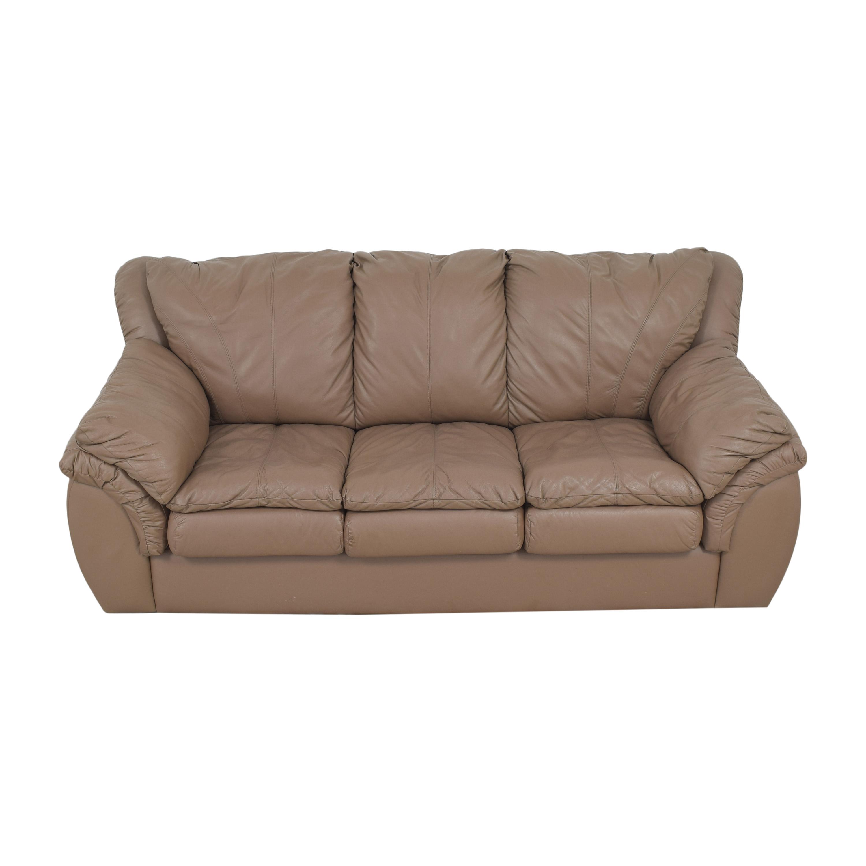 Plush Three Cushion Sofa discount