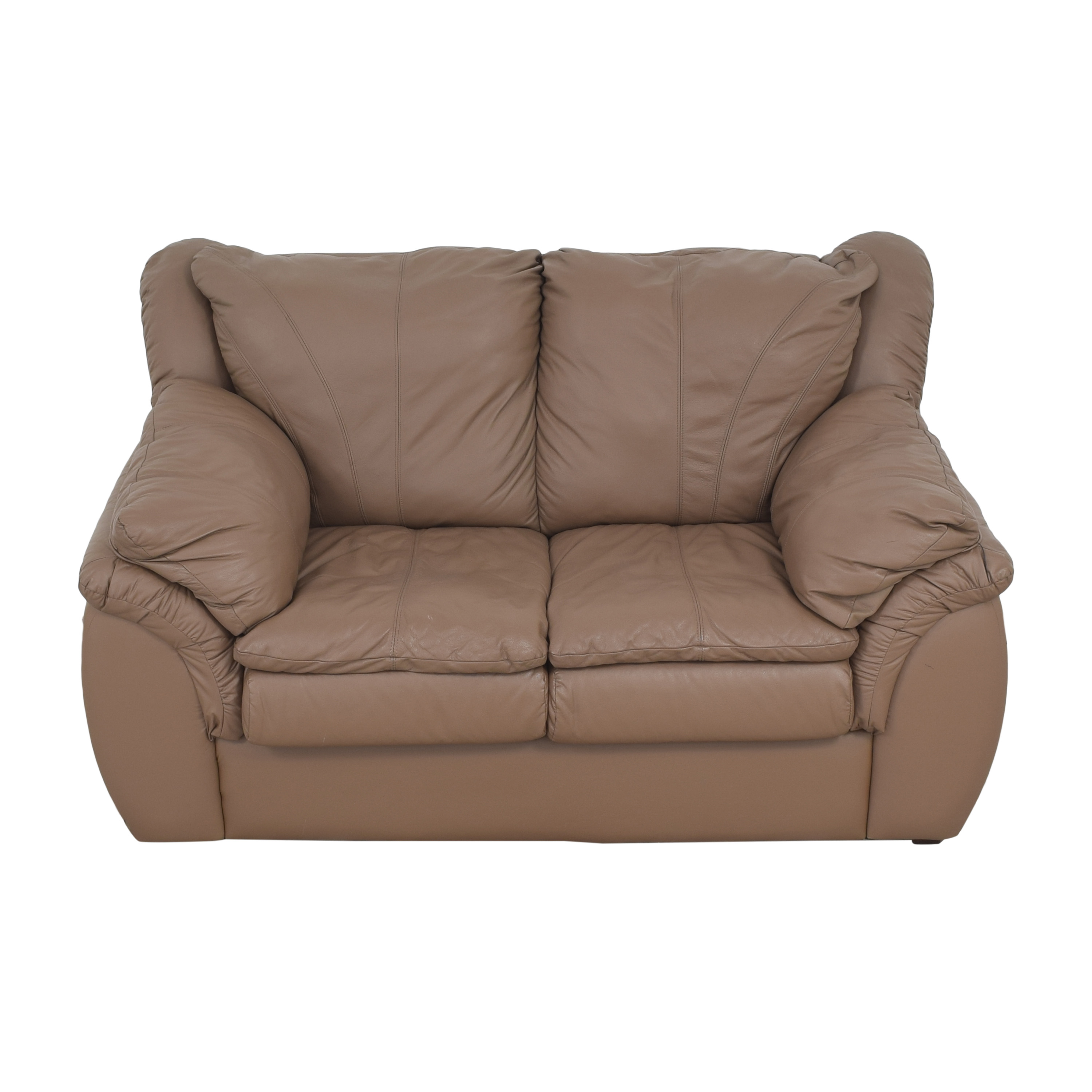 Plush Loveseat with Arm Cushions sale