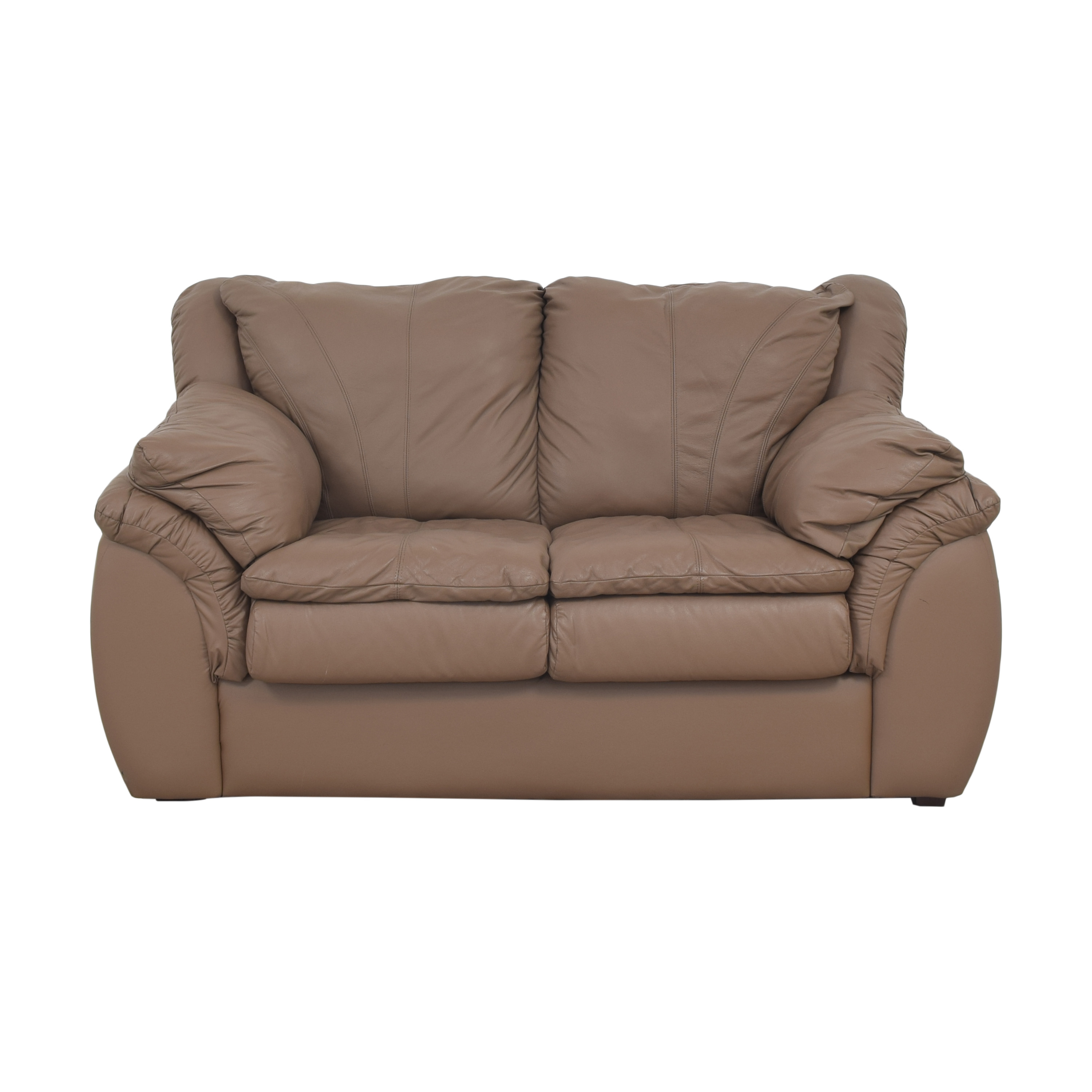 Plush Loveseat with Arm Cushions dimensions