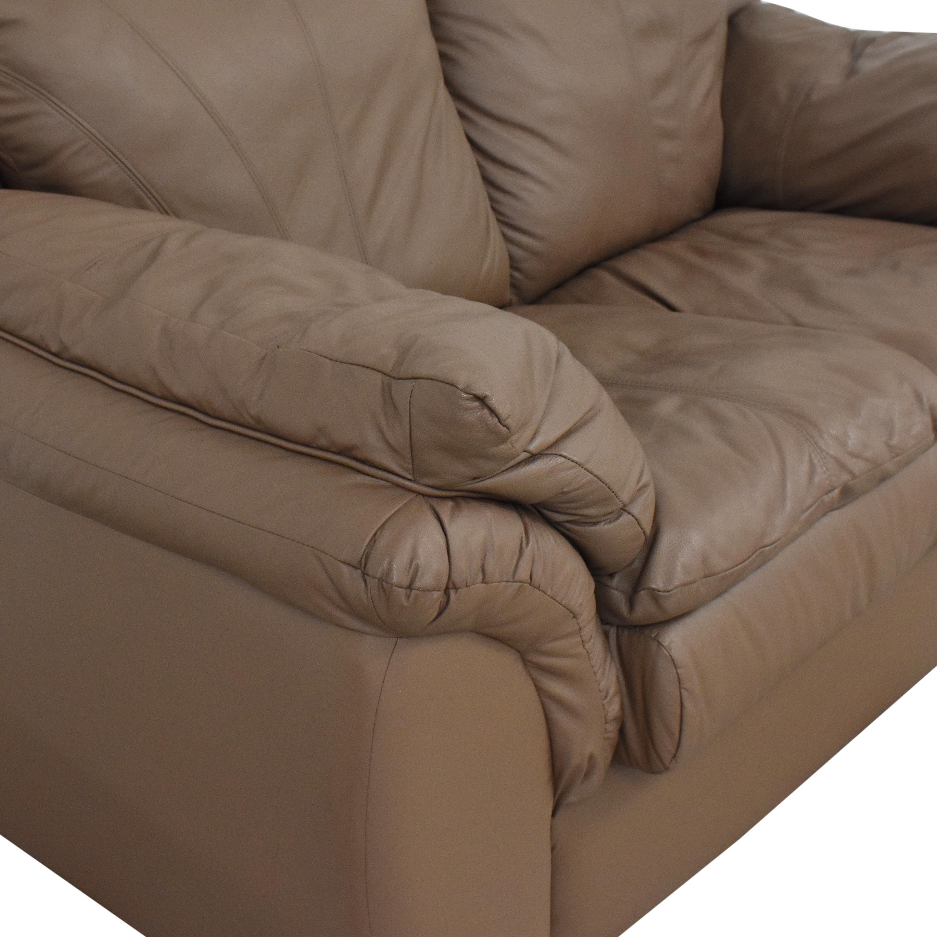 Plush Loveseat with Arm Cushions discount