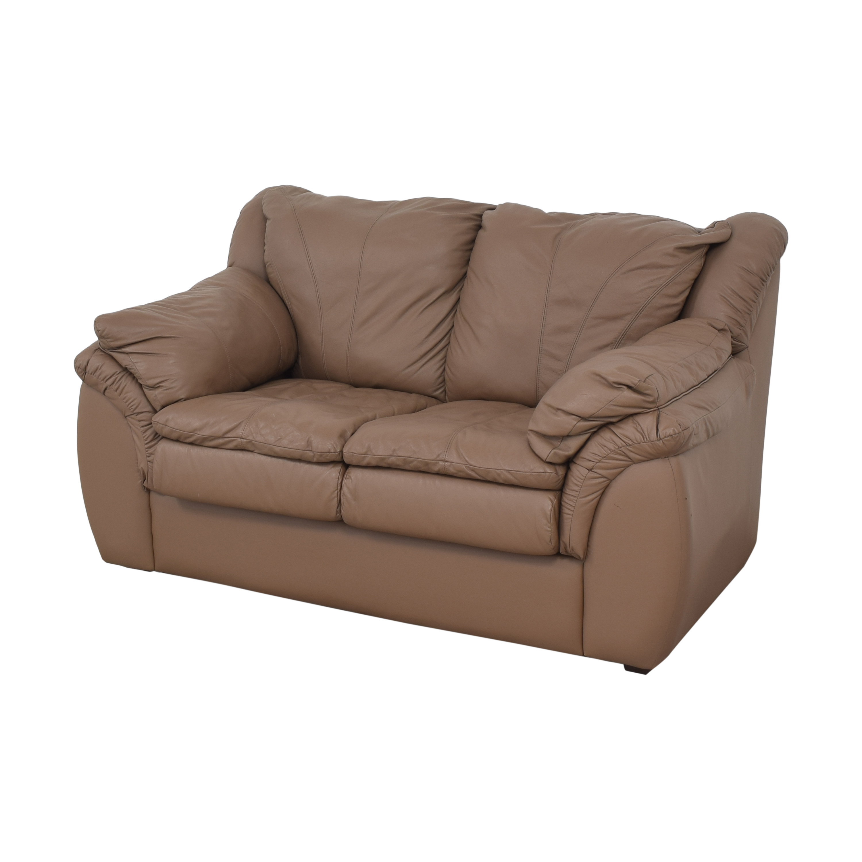 68 Off Plush Loveseat With Arm Cushions Sofas