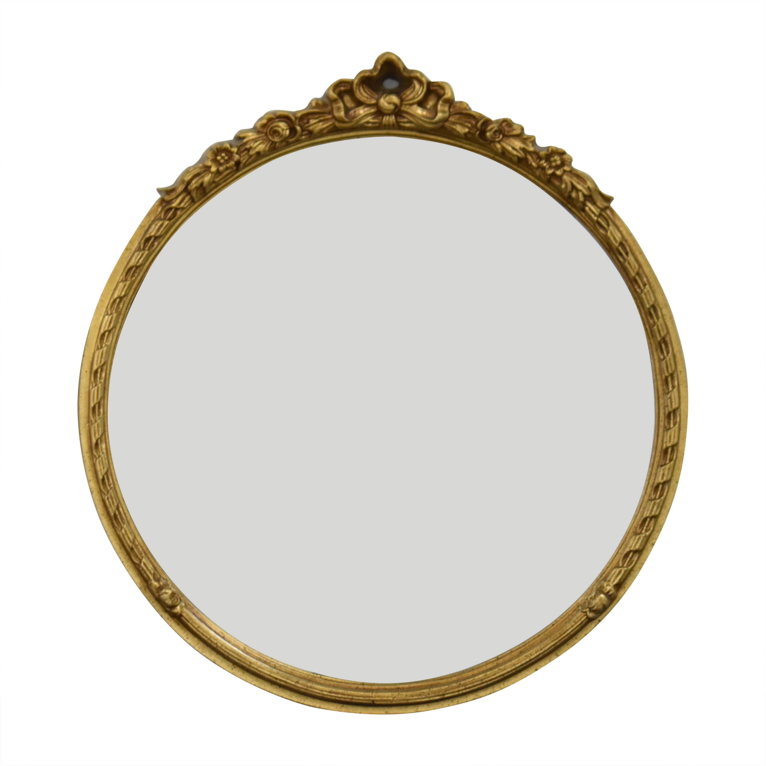 Fortunoff Fortunoff Round Wall Mirror with Decorative Frame used
