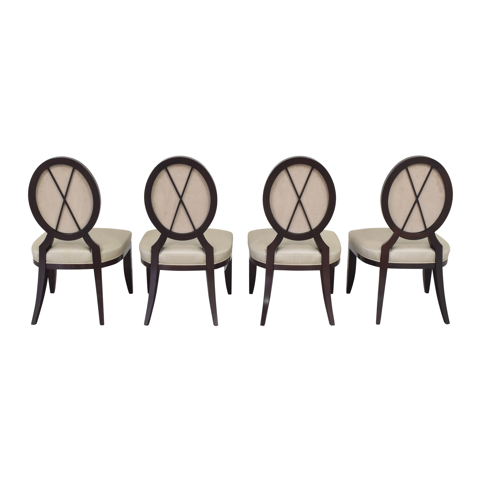 Baker Furniture Baker Furniture Oval X Back Dining Chairs