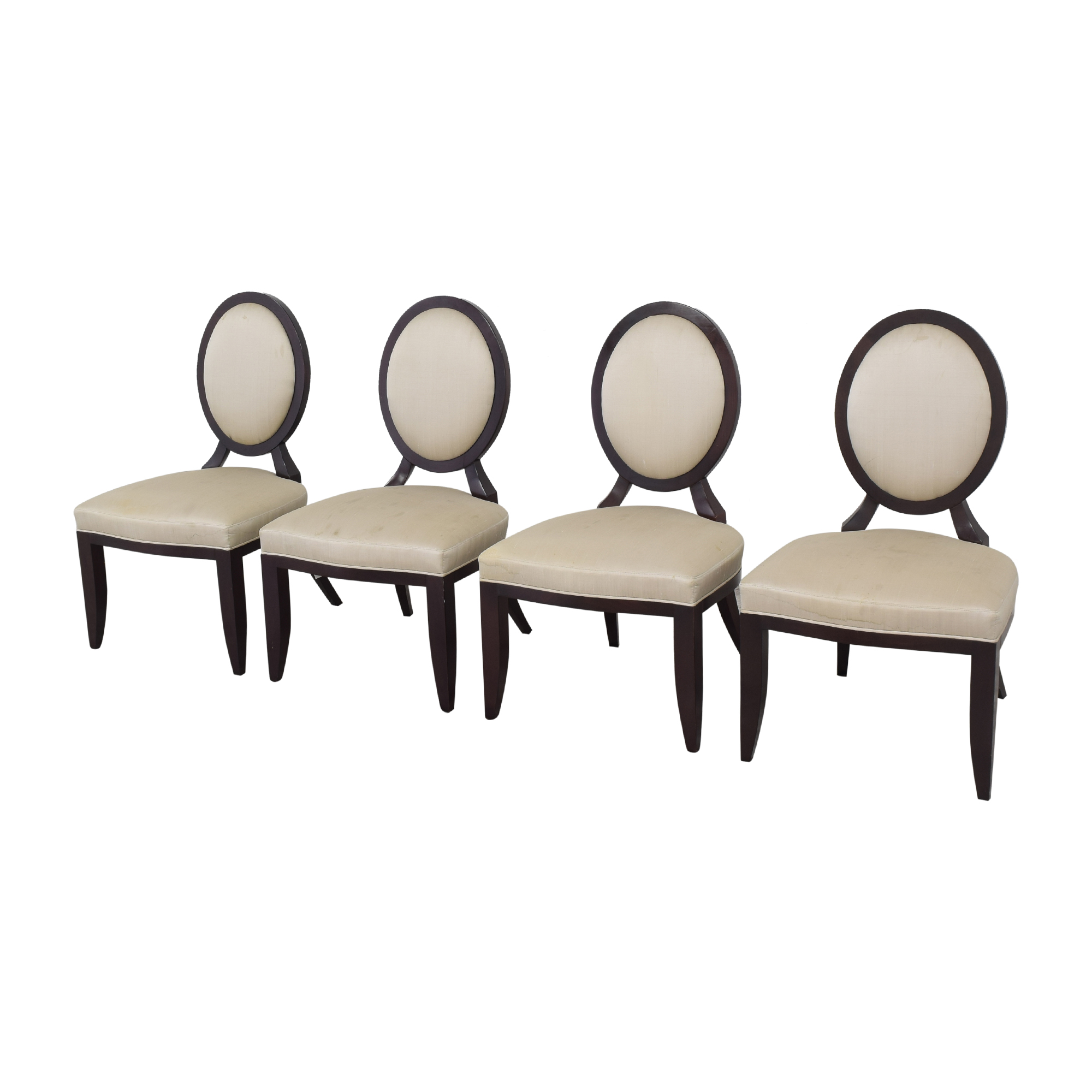 Baker Furniture Oval X Back Dining Chairs / Chairs