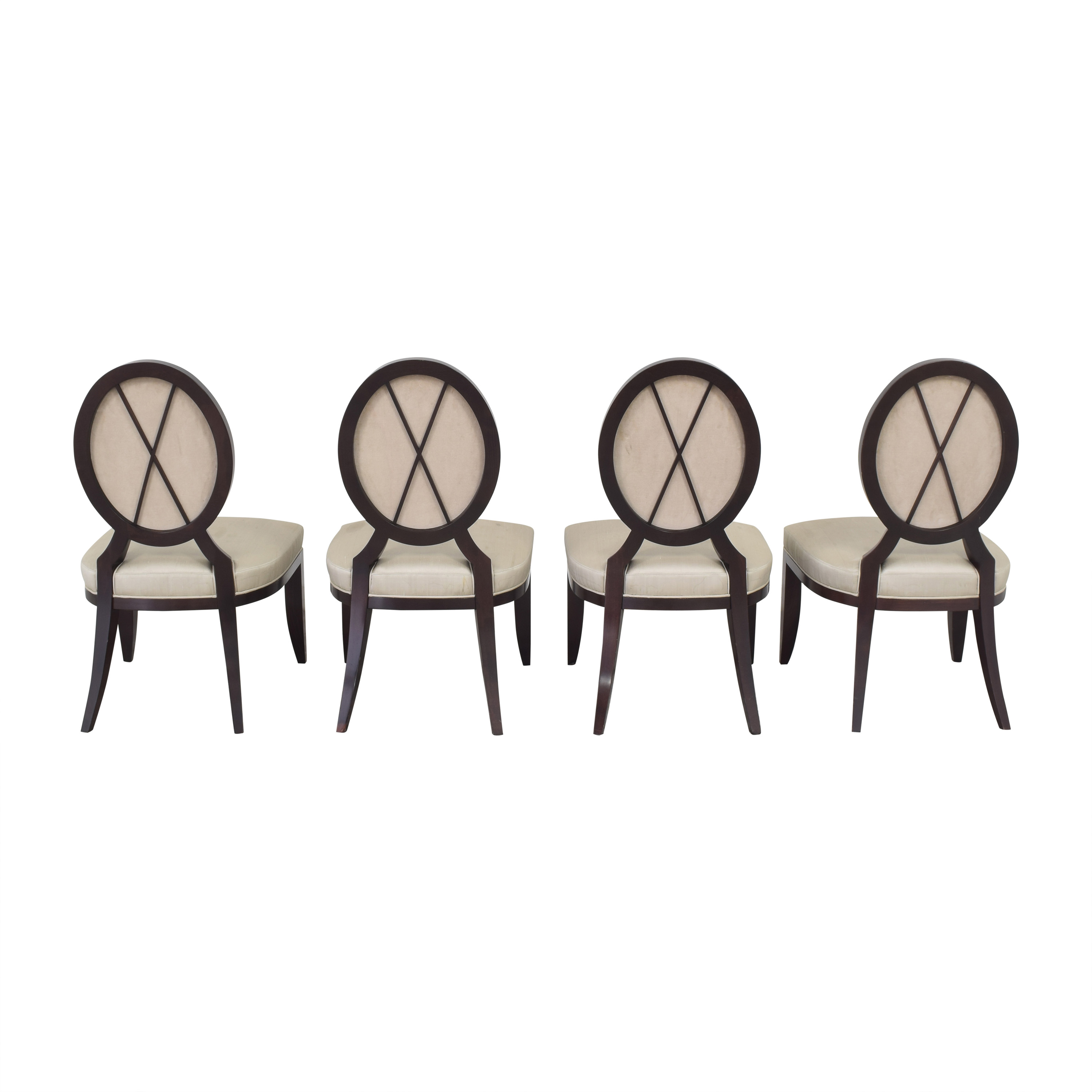 Baker Furniture Baker Furniture Oval X Back Dining Chairs price
