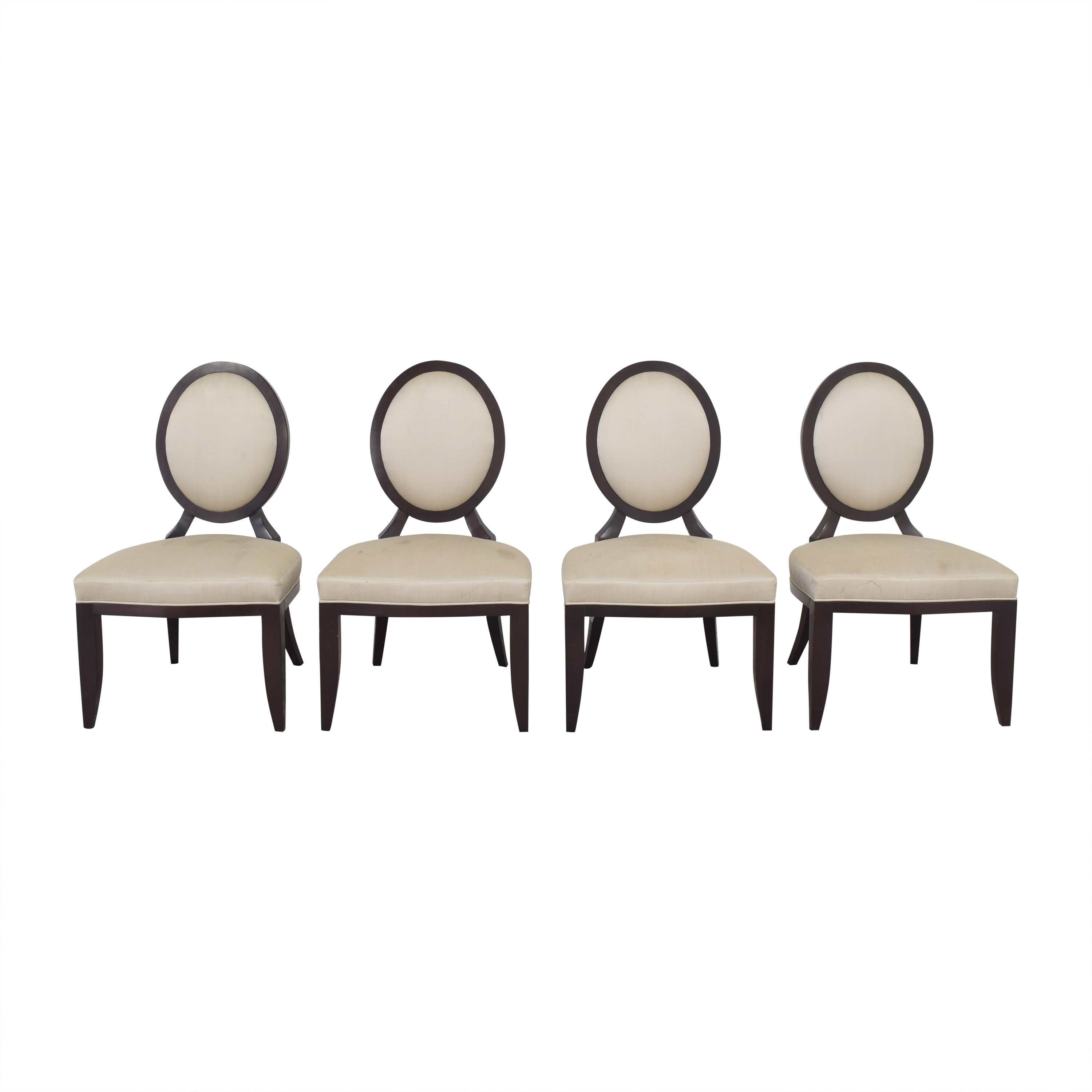 Baker Furniture Baker Furniture Oval X Back Dining Chairs pa