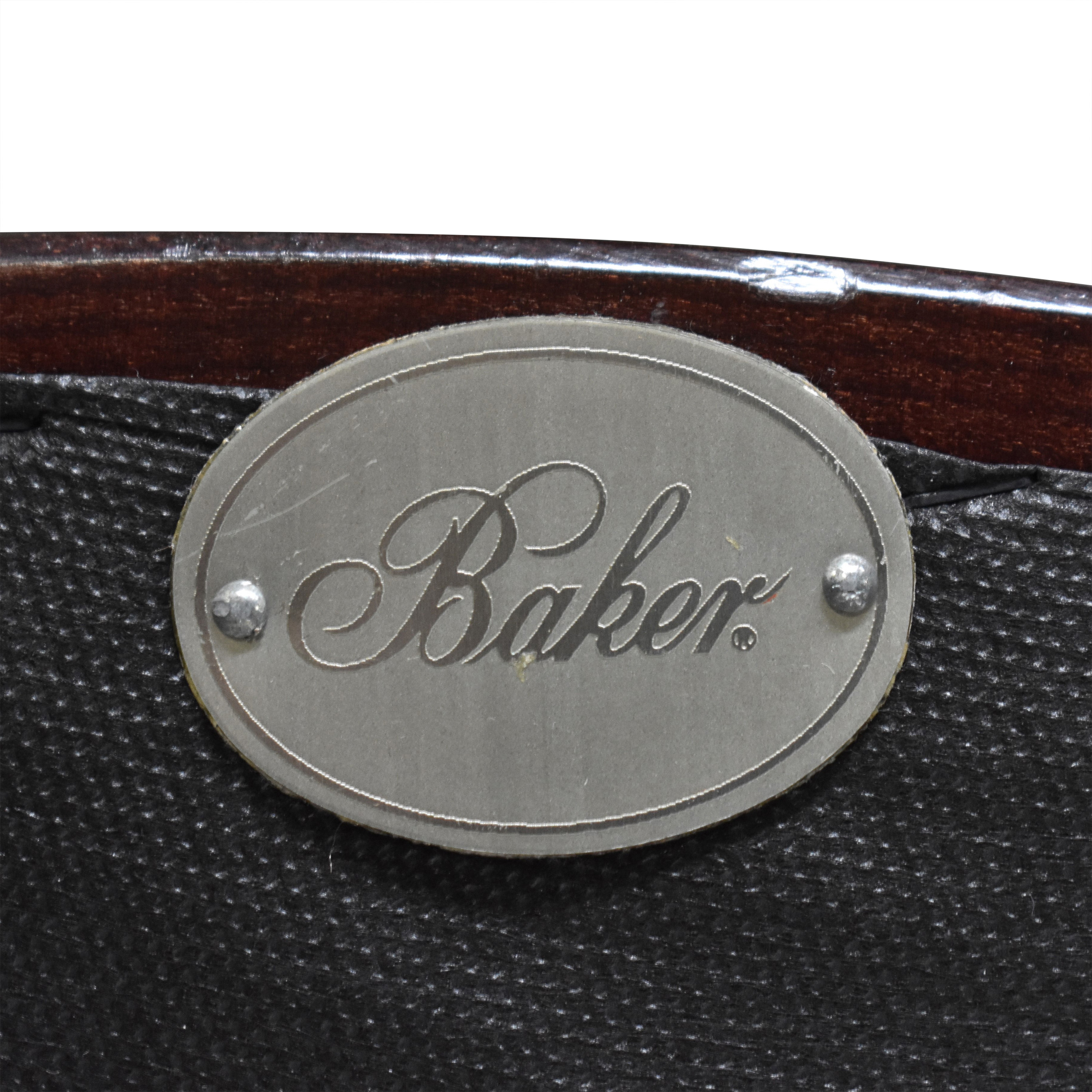 Baker Furniture Baker Furniture Oval X Back Dining Chairs second hand