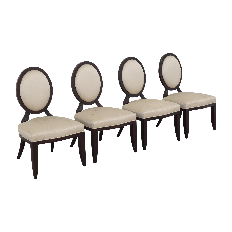 shop Baker Furniture Oval X Back Dining Chairs Baker Furniture
