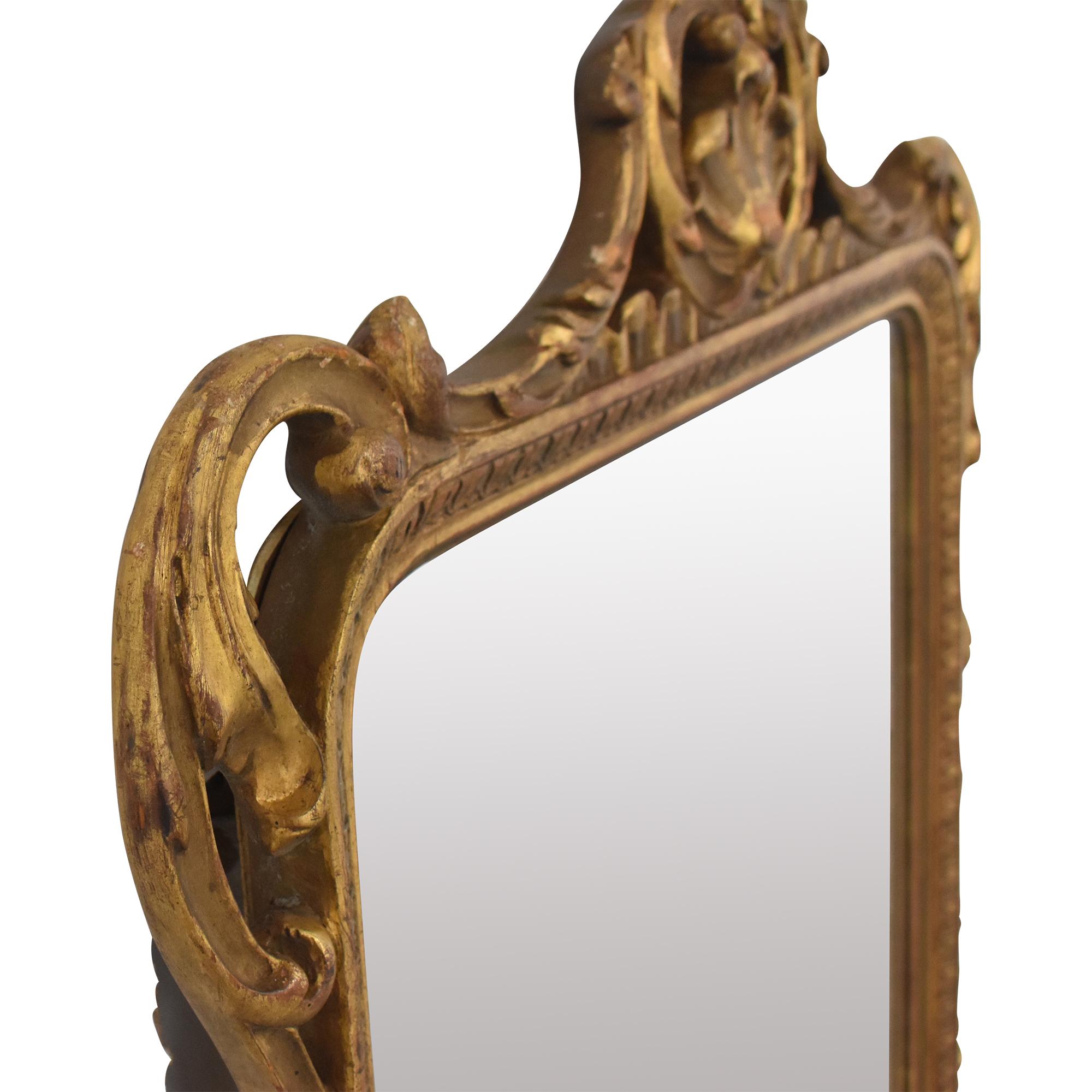 Vintage Mirror with Decorative Frame sale
