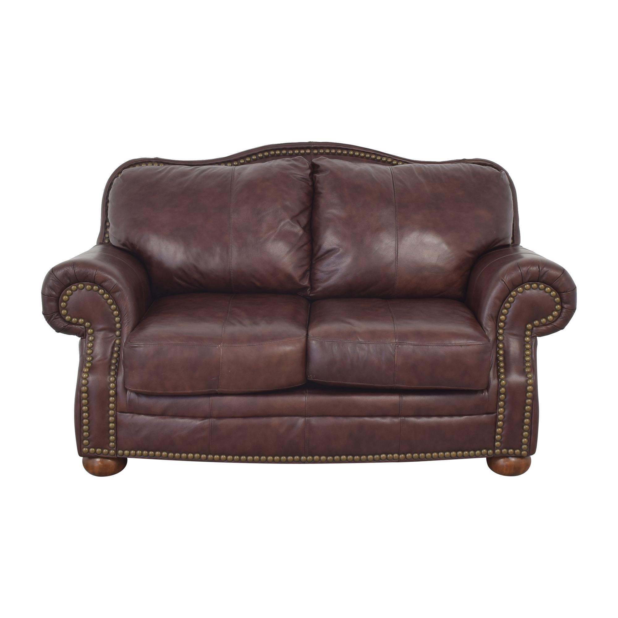 Ashley Furniture Ashley Furniture Nailhead Trim Loveseat dark brown
