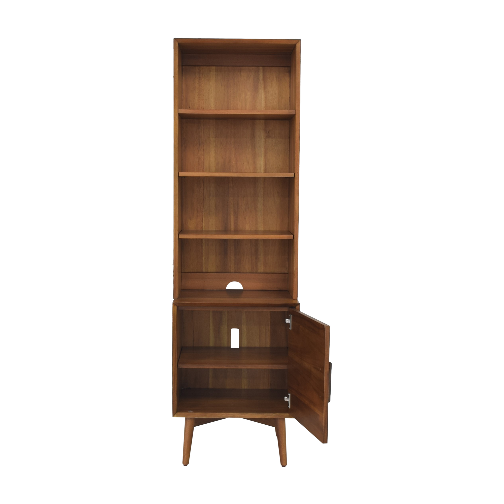 West Elm West Elm Mid Century Bookcase with Cabinet