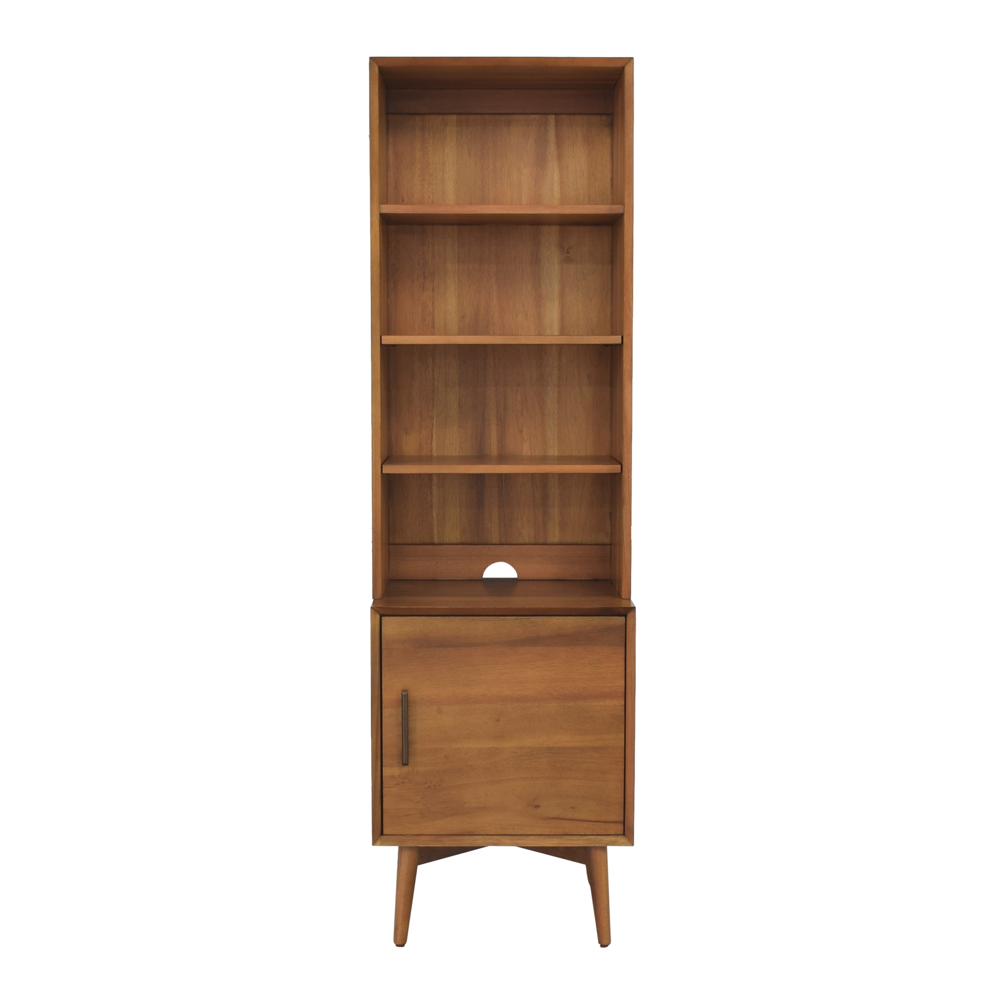 shop West Elm Mid Century Bookcase with Cabinet West Elm