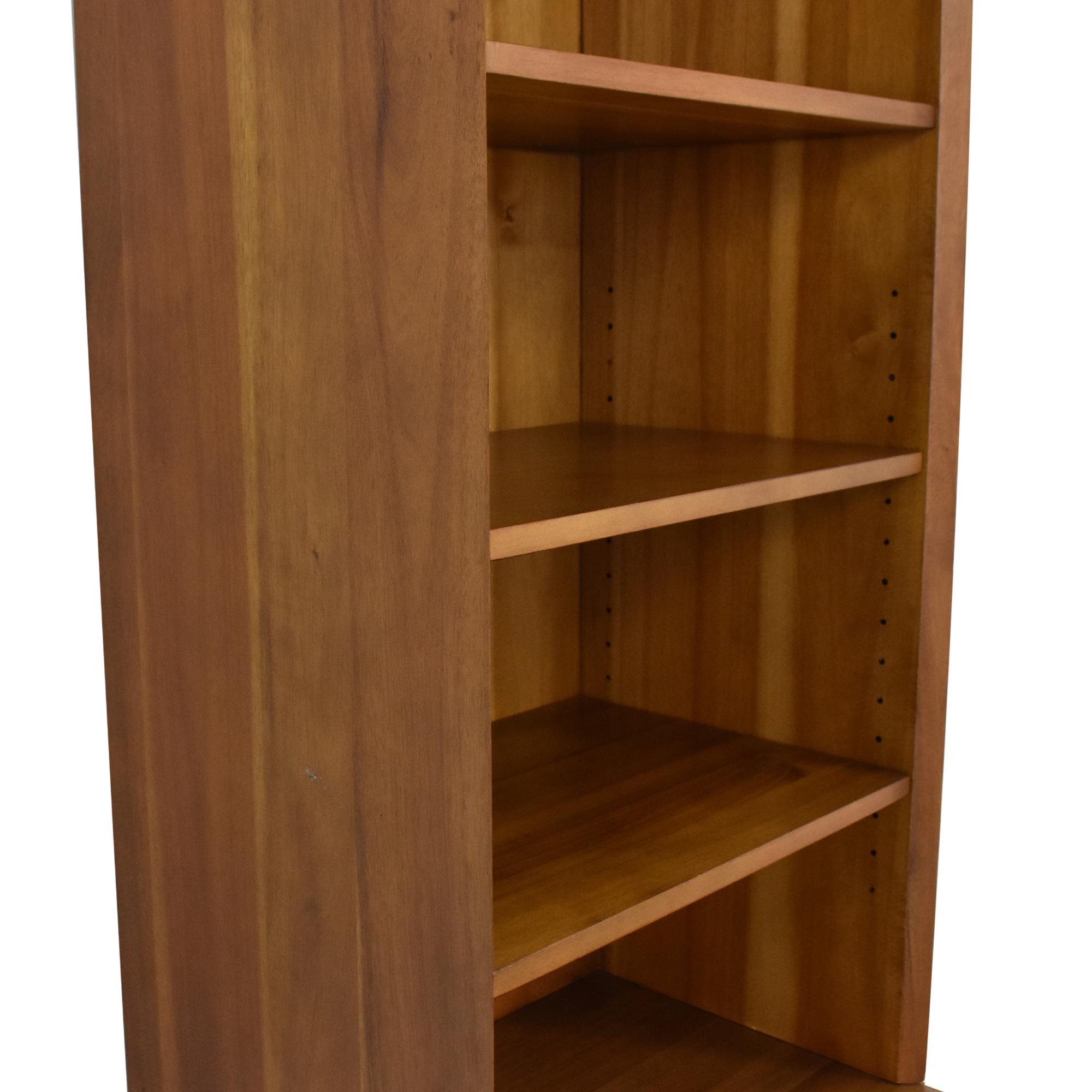 shop West Elm Mid Century Bookcase with Cabinet West Elm
