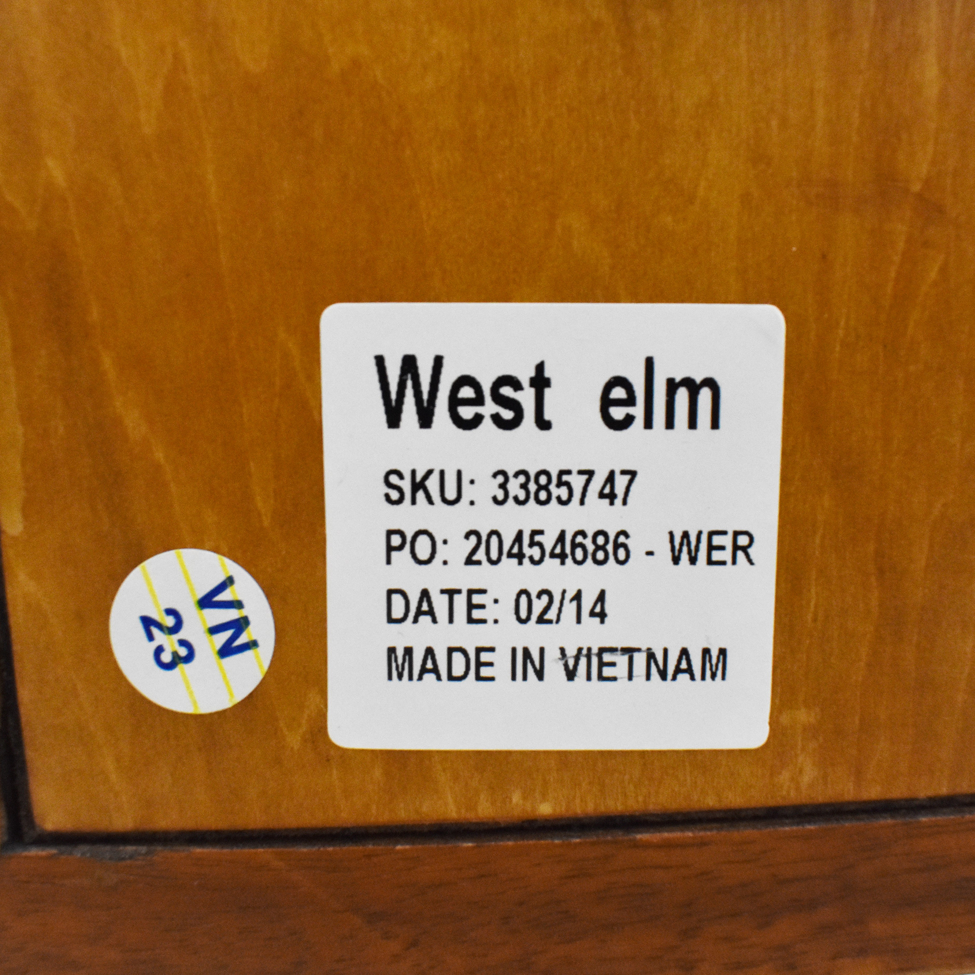 West Elm West Elm Mid Century Bookcase with Cabinet brown