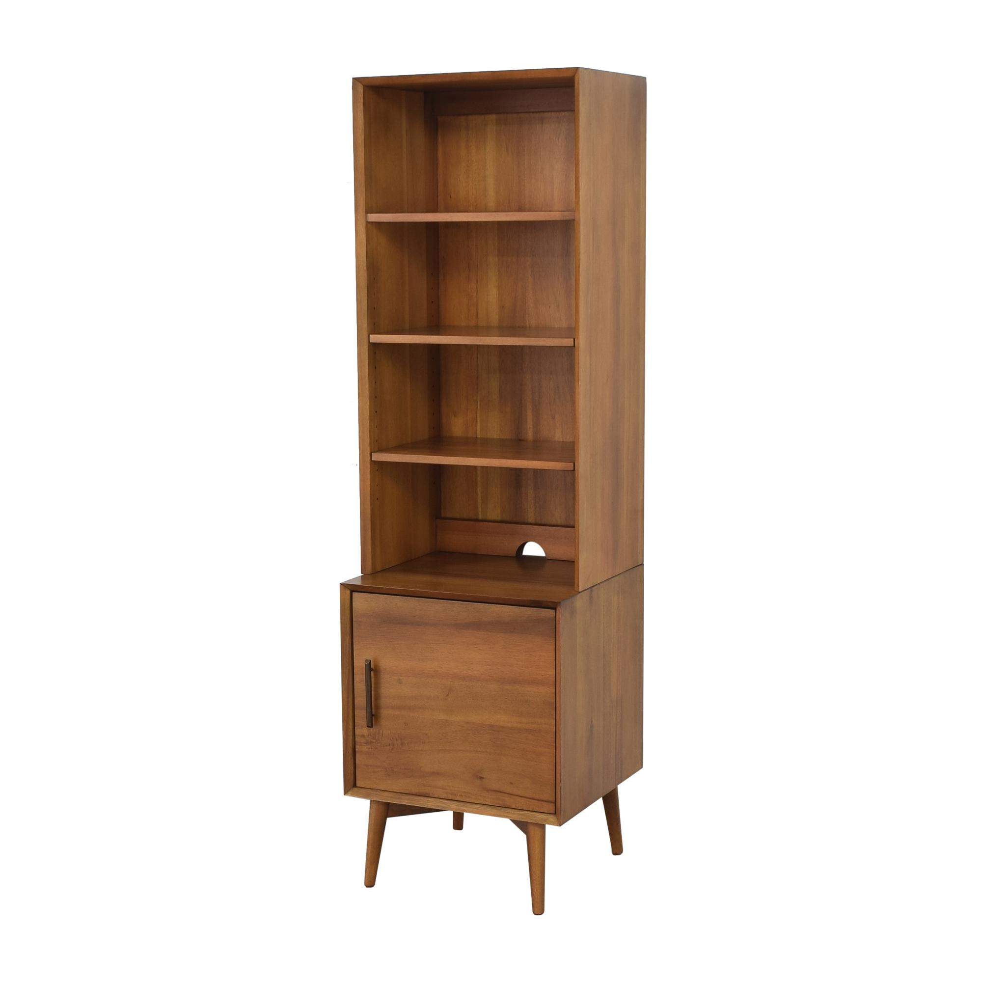 shop West Elm West Elm Mid Century Bookcase with Cabinet online